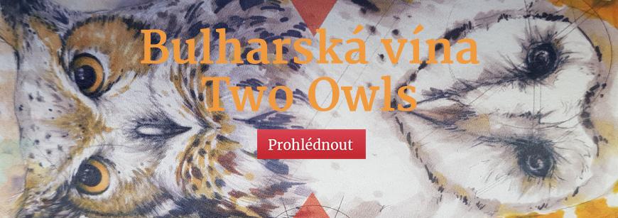Bulharská vína Two Owls