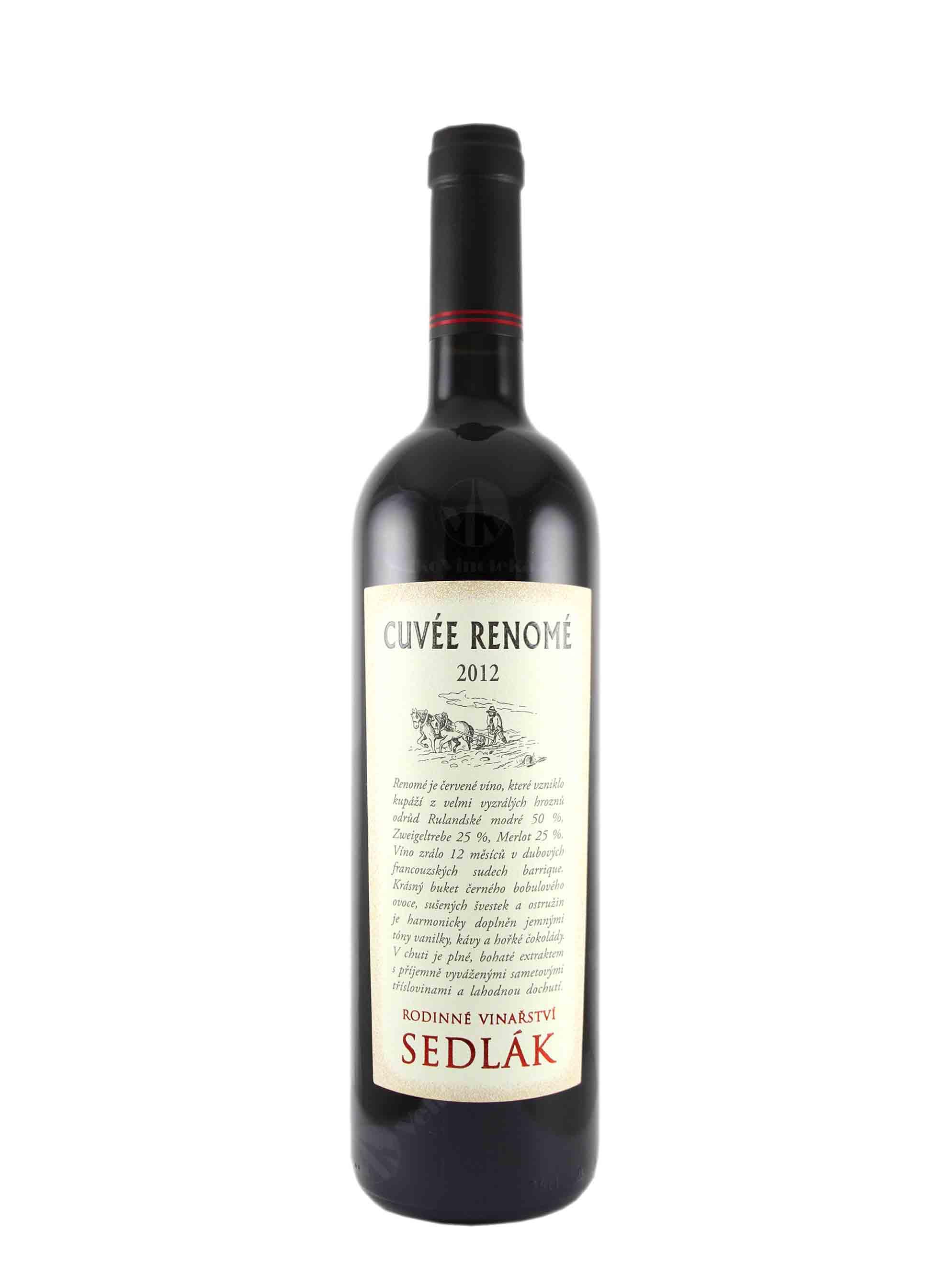 Cuvée, Renomé, Zemské, 2012, Vinařství Sedlák, 0.75 l