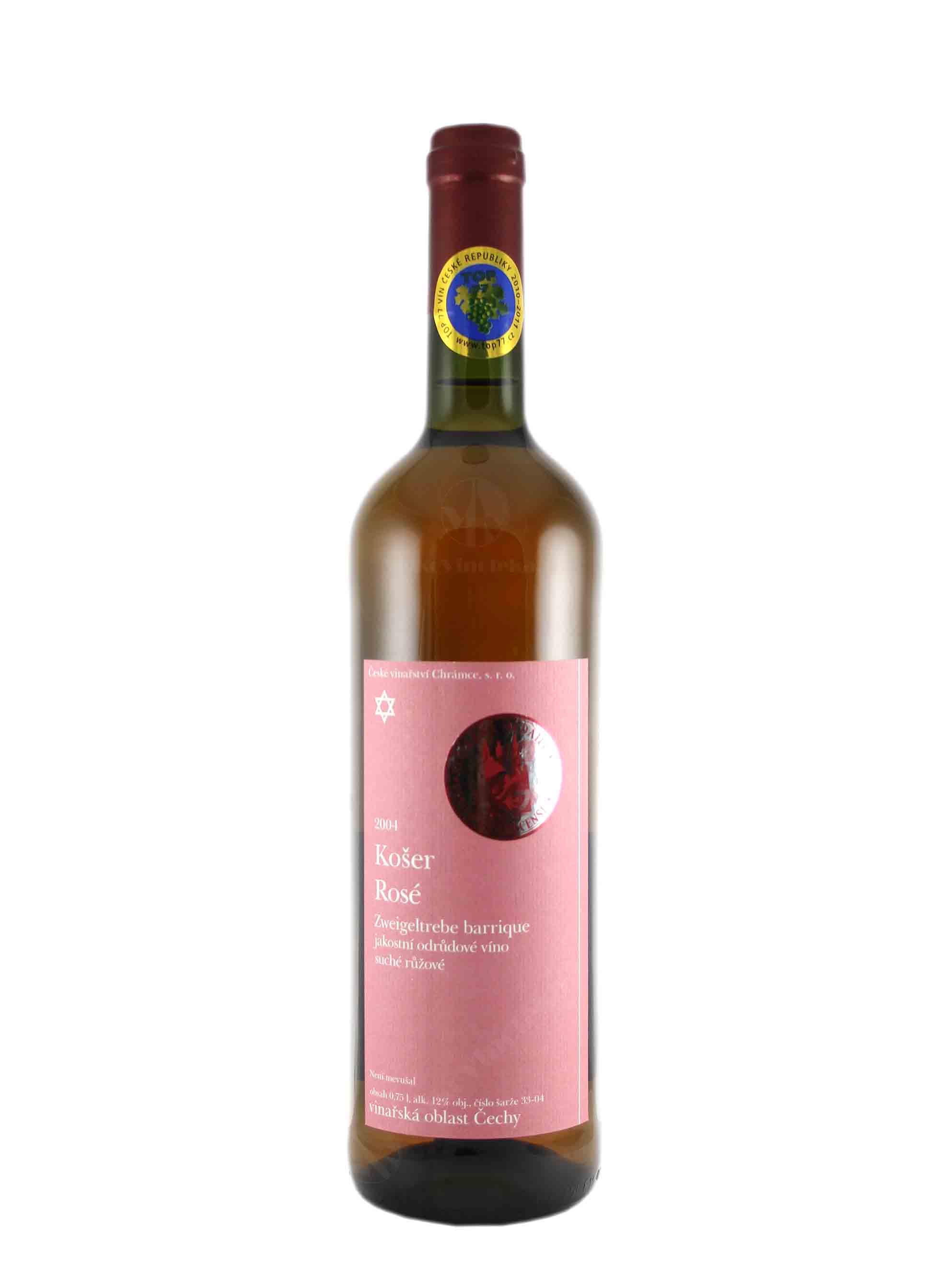 Zweigeltrebe, Košer, Jakostní odrůdové - barrique, 2004, České vinařství Chrámce, 0.75 l