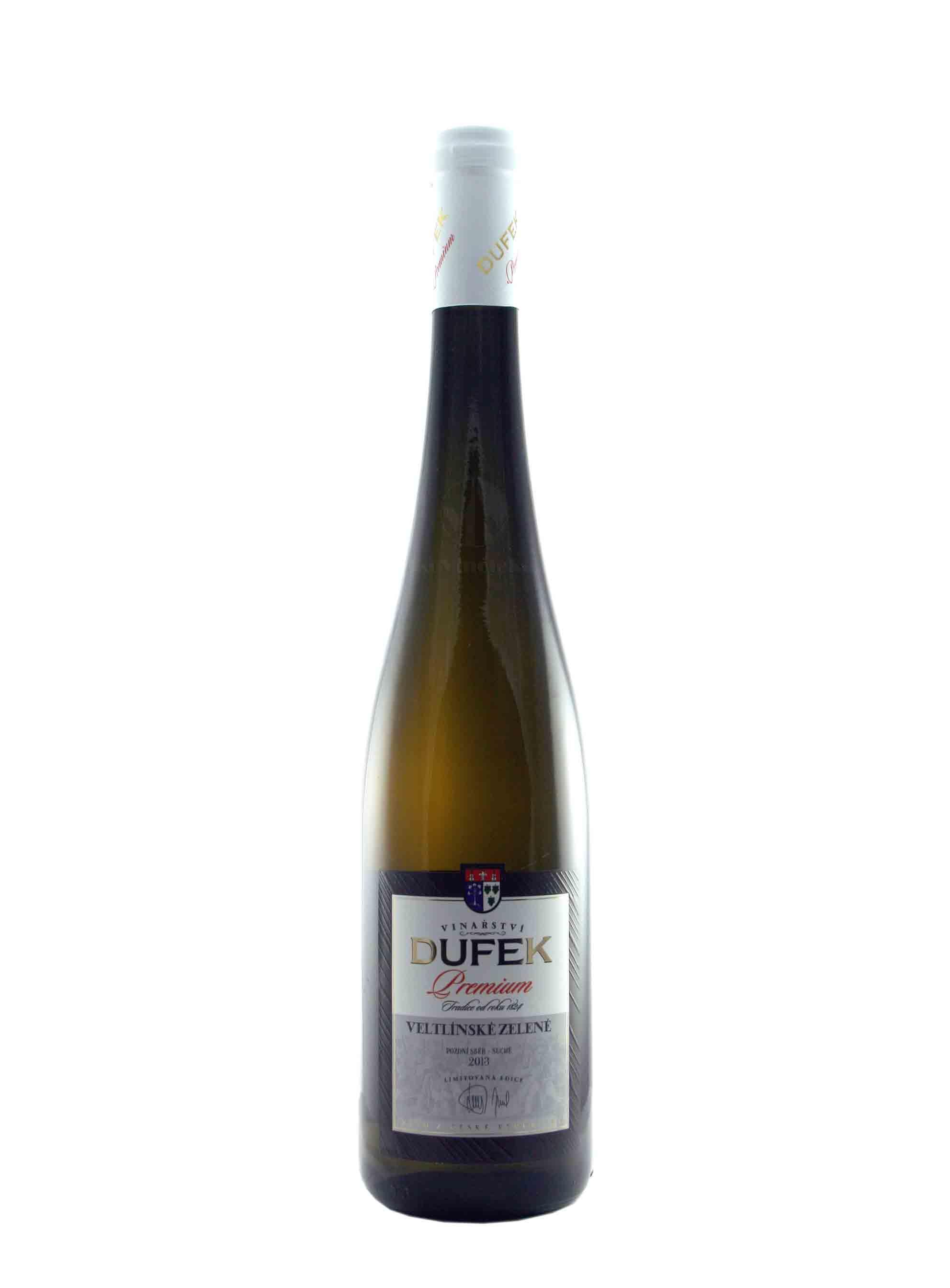Veltlínské zelené, Premium, Pozdní sběr, 2013, Vinařství Dufek, 0.75 l