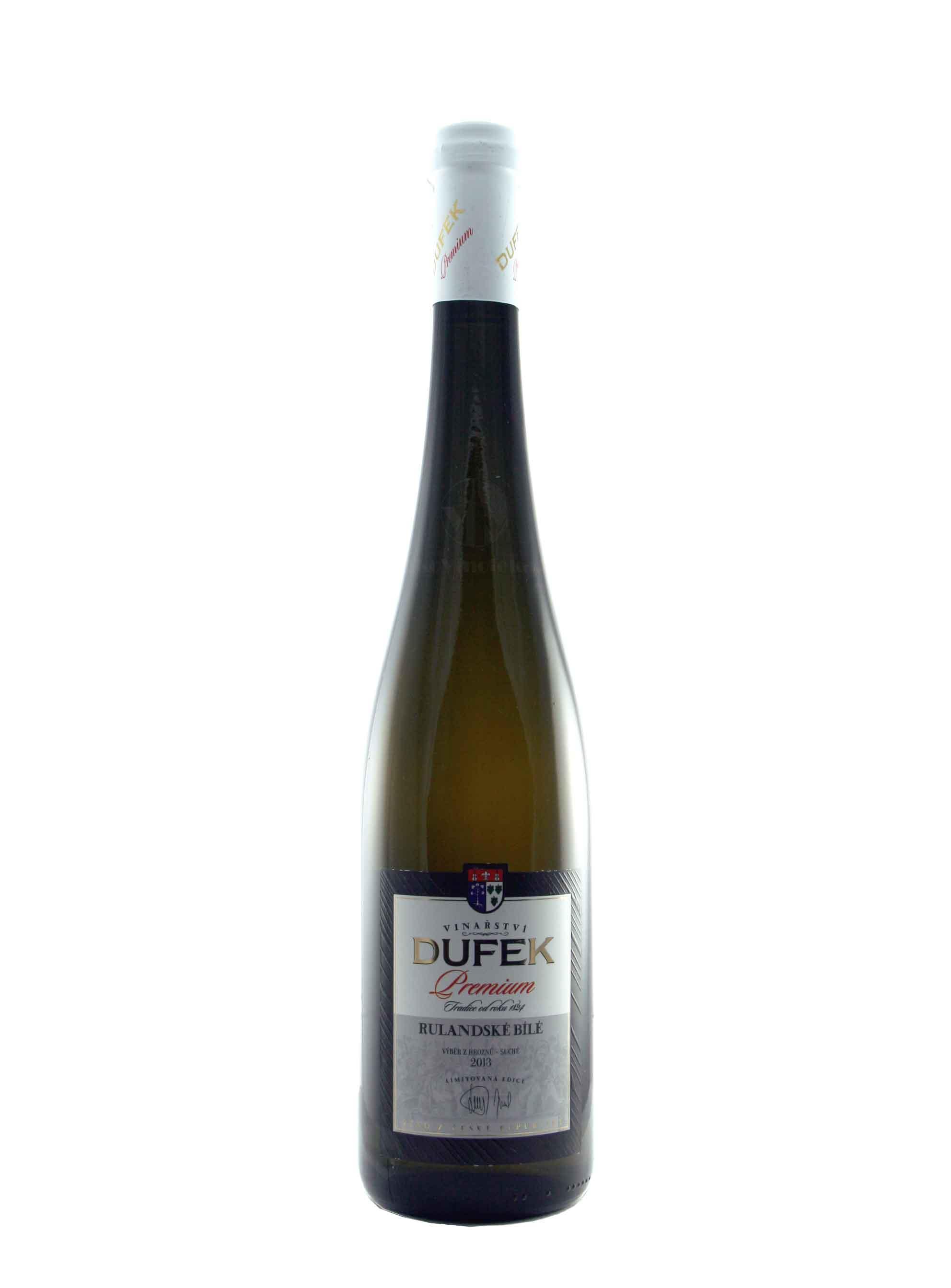 Rulandské bílé, Premium, Výběr z hroznů, 2013, Vinařství Dufek, 0.75 l