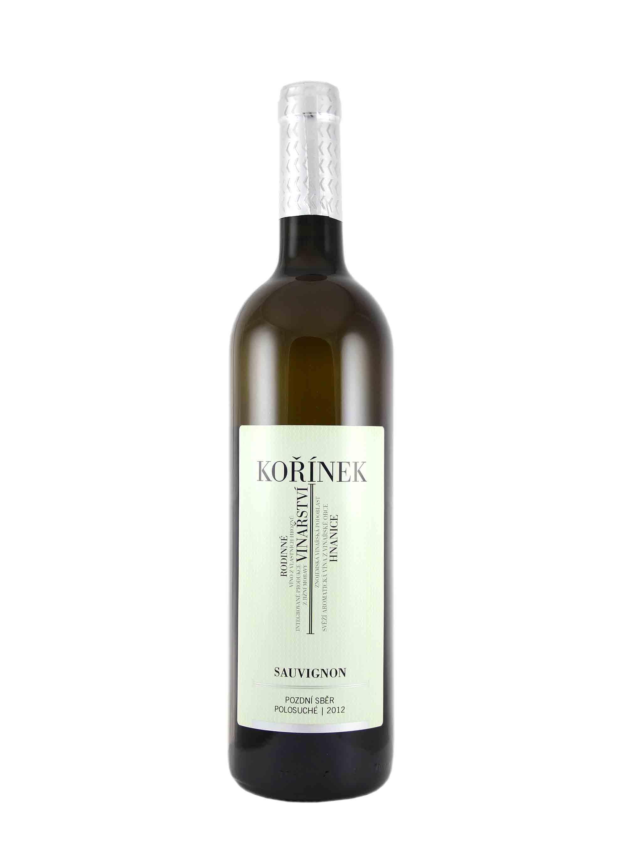 Sauvignon, Premium, Pozdní sběr, 2012, Vinařství Kořínek, 0.75 l