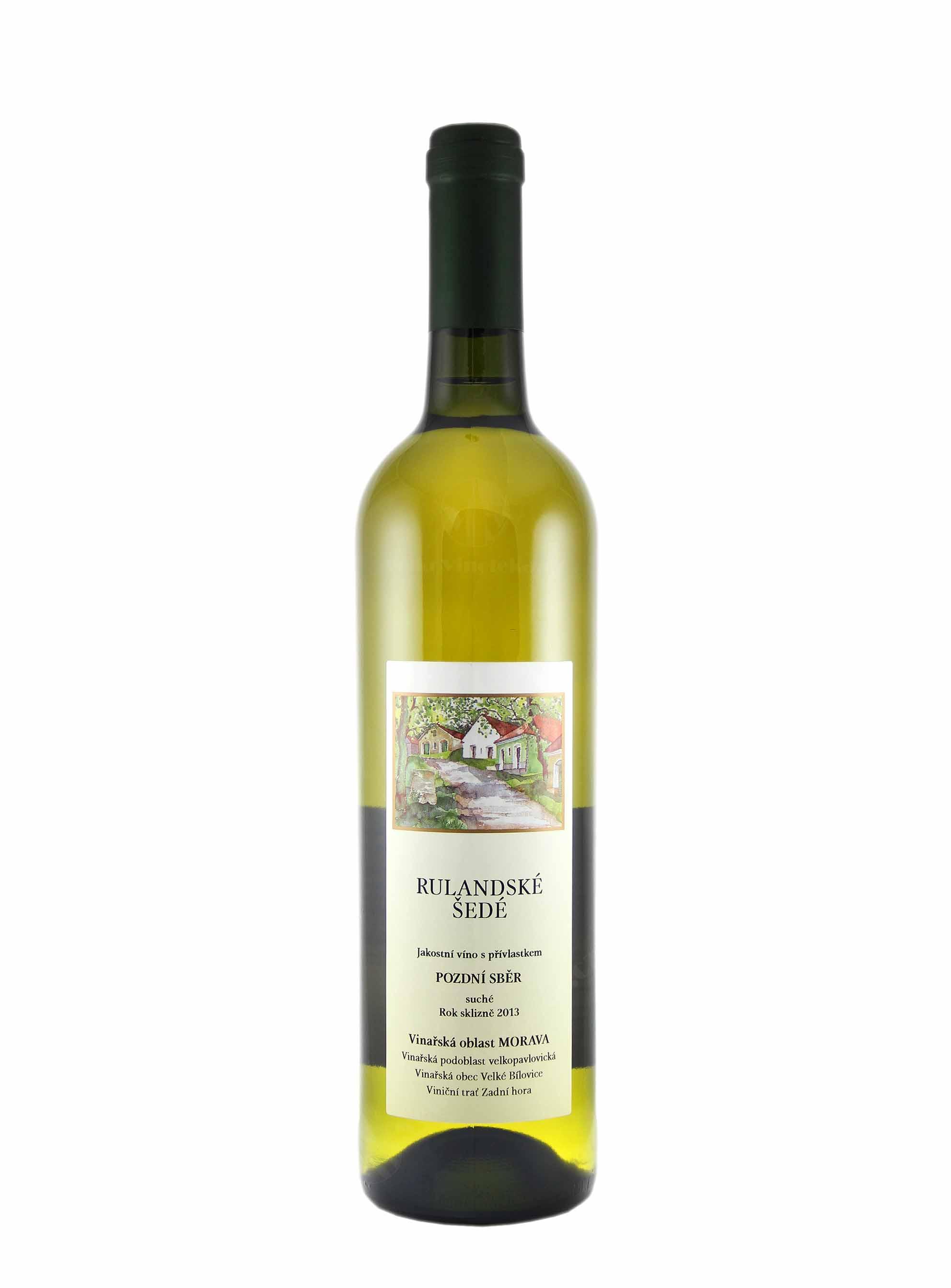 Rulandské šedé, Pozdní sběr, 2013, František Mádl - Malý vinař, 0.75 l