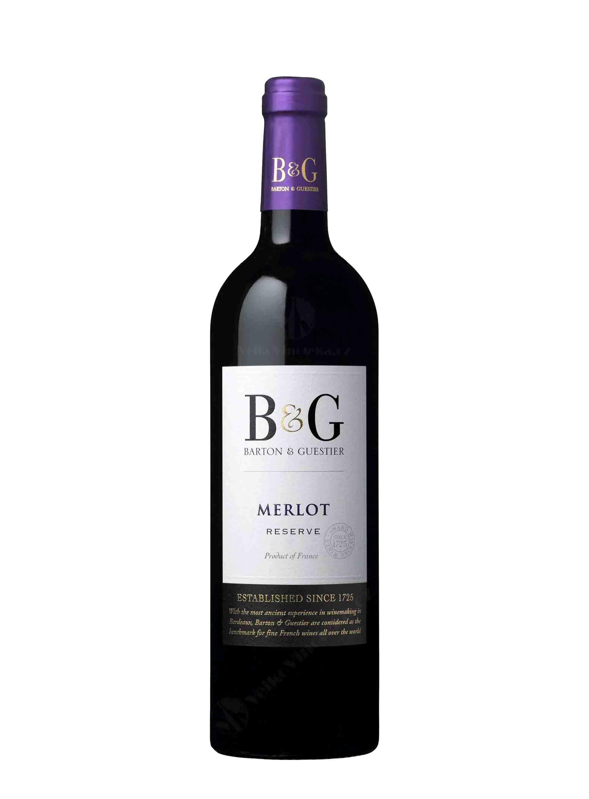 Merlot, IGP Réserve, 2014, Barton & Guestier, 0.75 l