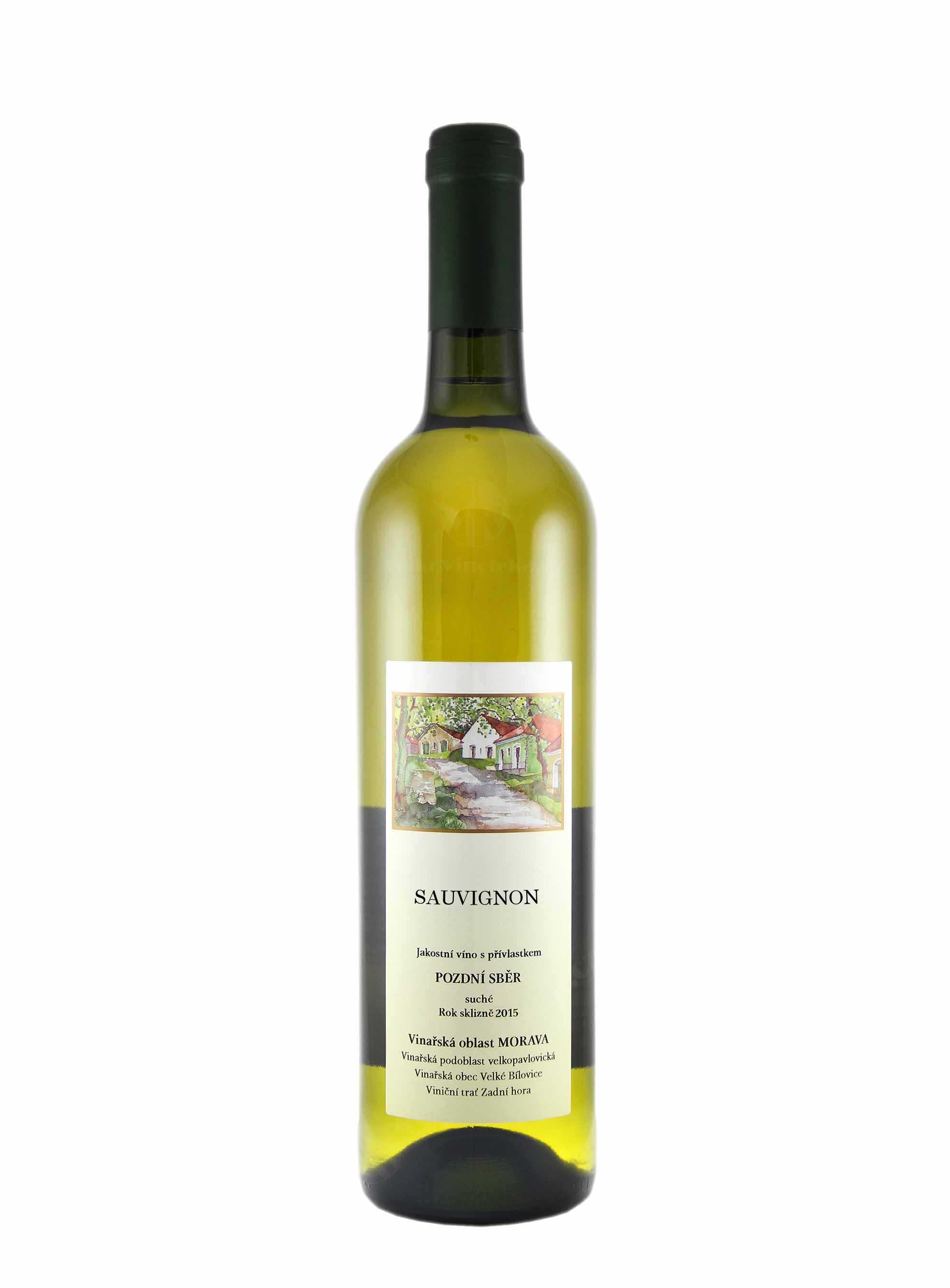 Sauvignon, Pozdní sběr, 2015, František Mádl - Malý vinař, 0.75 l