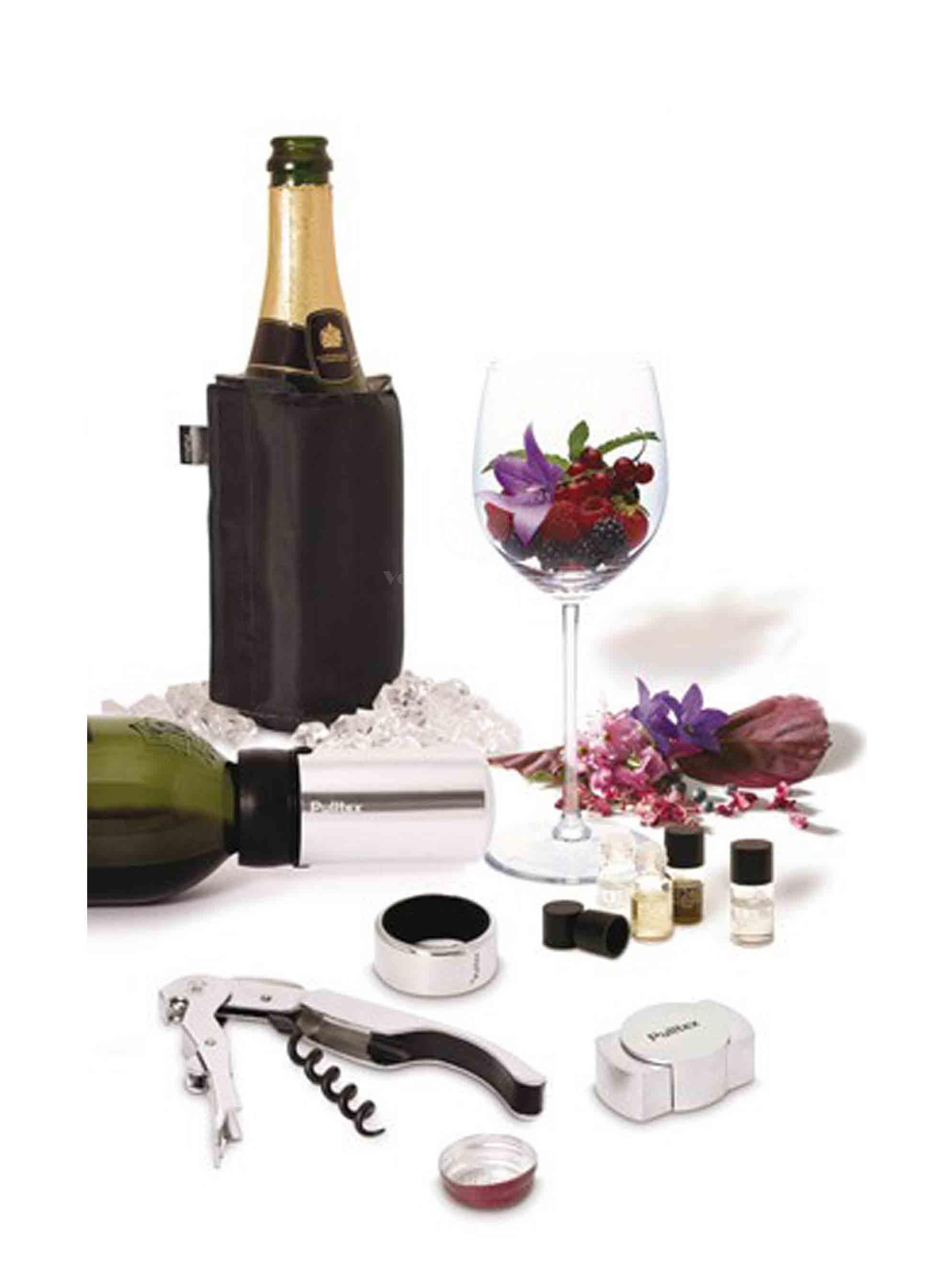 Set esence+vývrtka wine and champ starter Pulltex 1ks