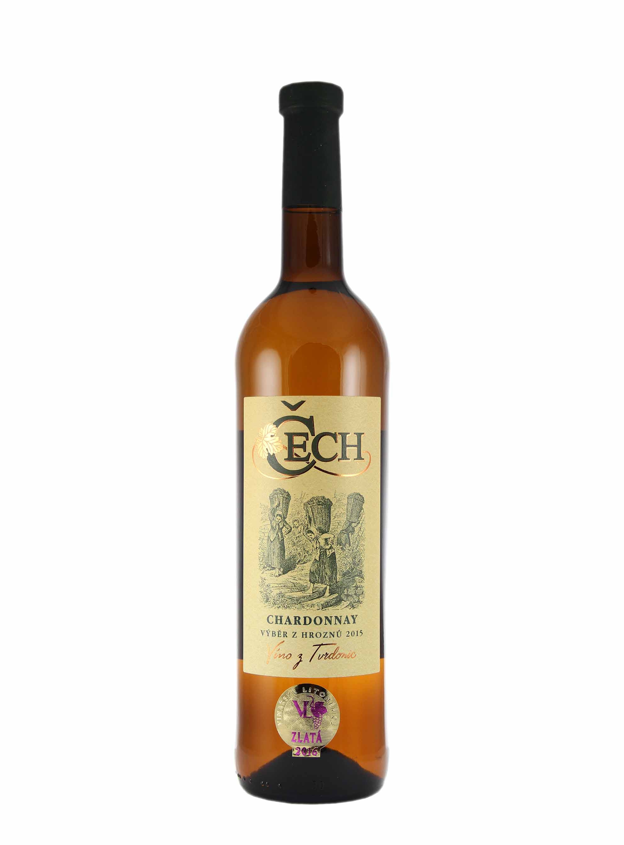 Chardonnay, Výběr z hroznů, 2015, Vinařství Čech, 0.75 l