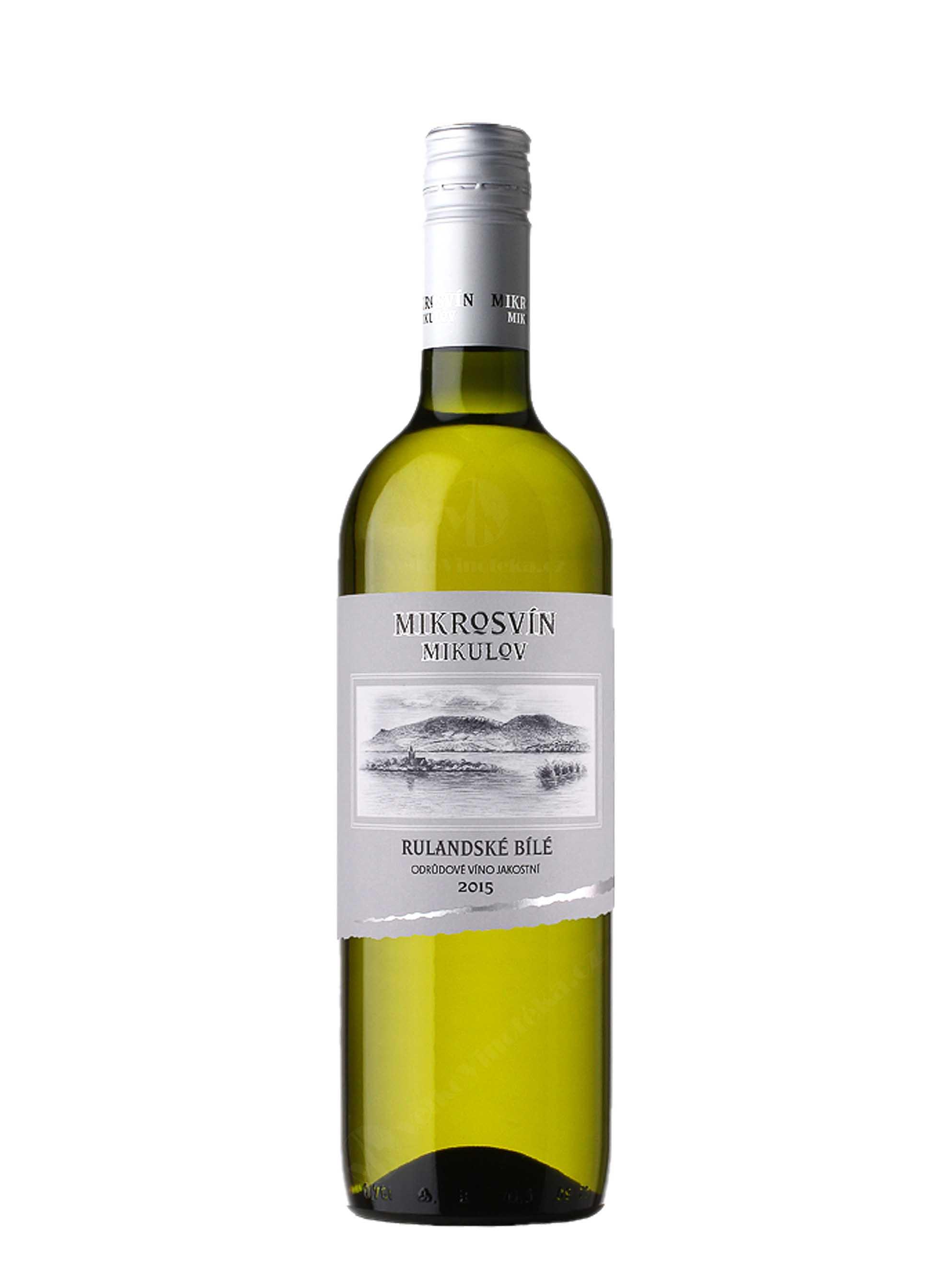Rulandské bílé, Standard, Jakostní odrůdové, 2015, Mikrosvín, 0.75 l