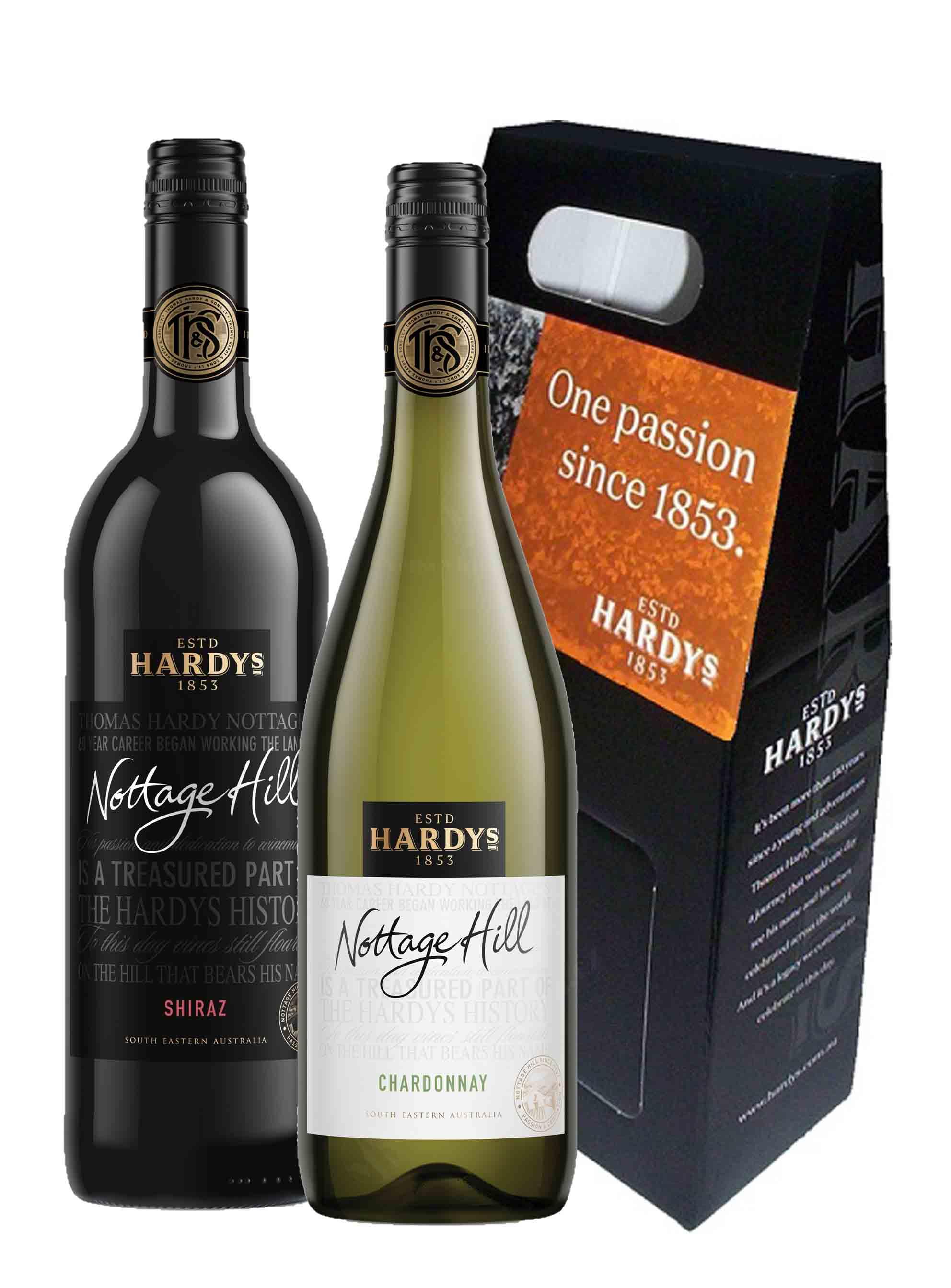 Shiraz - Chardonnay, Nottage Hill, Hardys, 2x 0,75l - dárková krabička