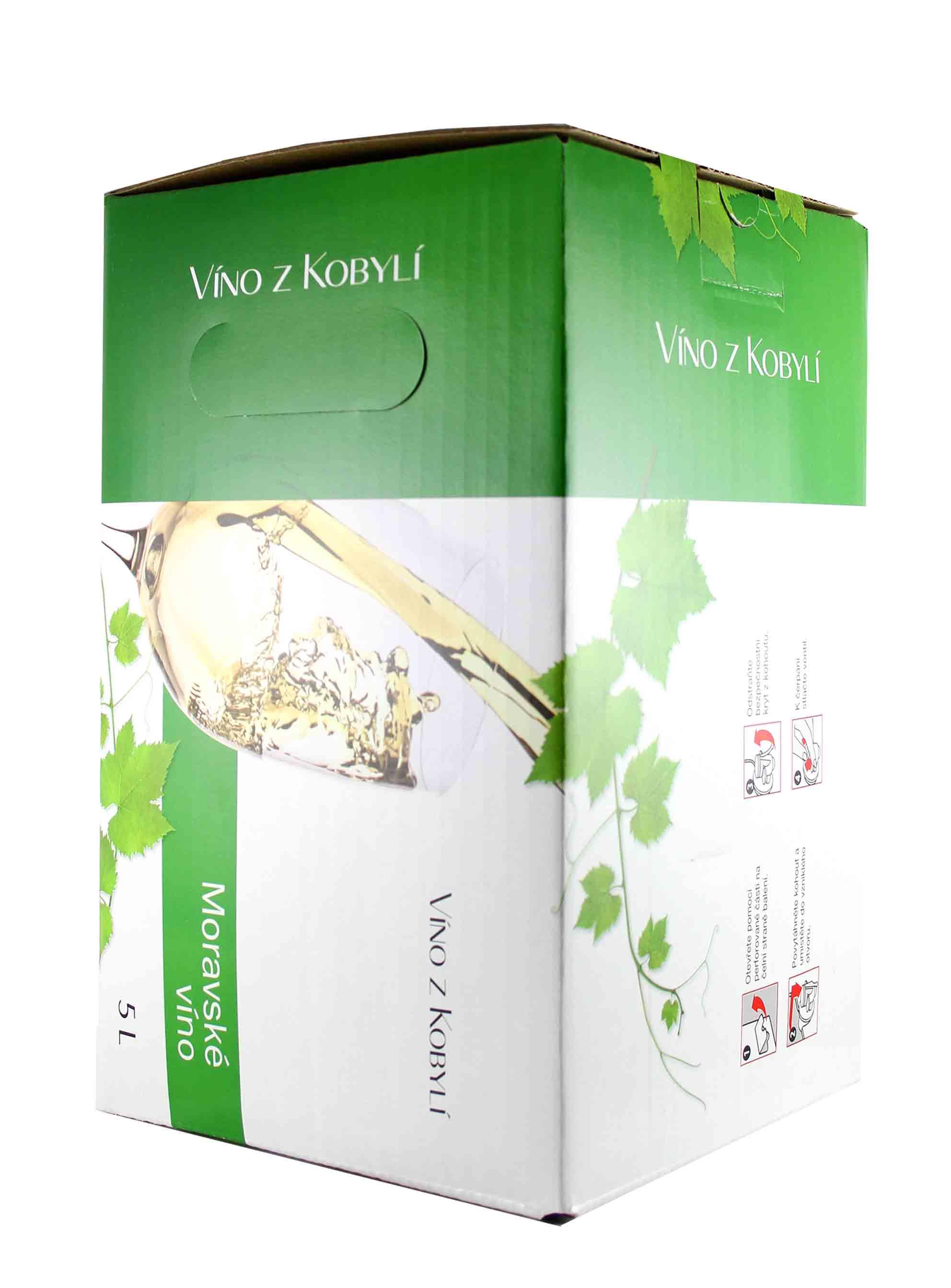 Veltlínské zelené, Bag in Box, Jakostní odrůdové, Patria Kobylí, 5 l