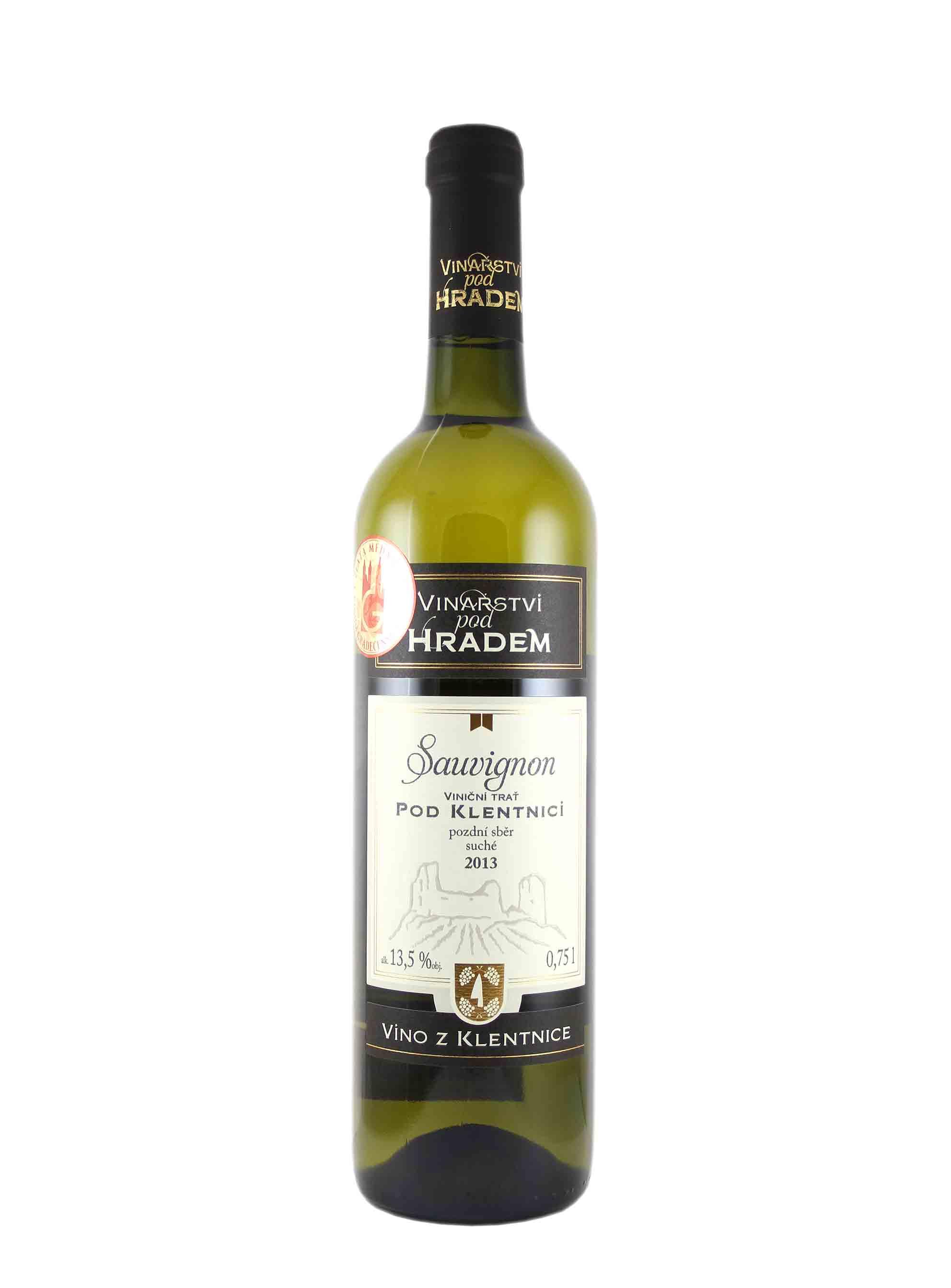 Sauvignon, Pozdní sběr, 2013, Vinařství pod Hradem, 0.75 l