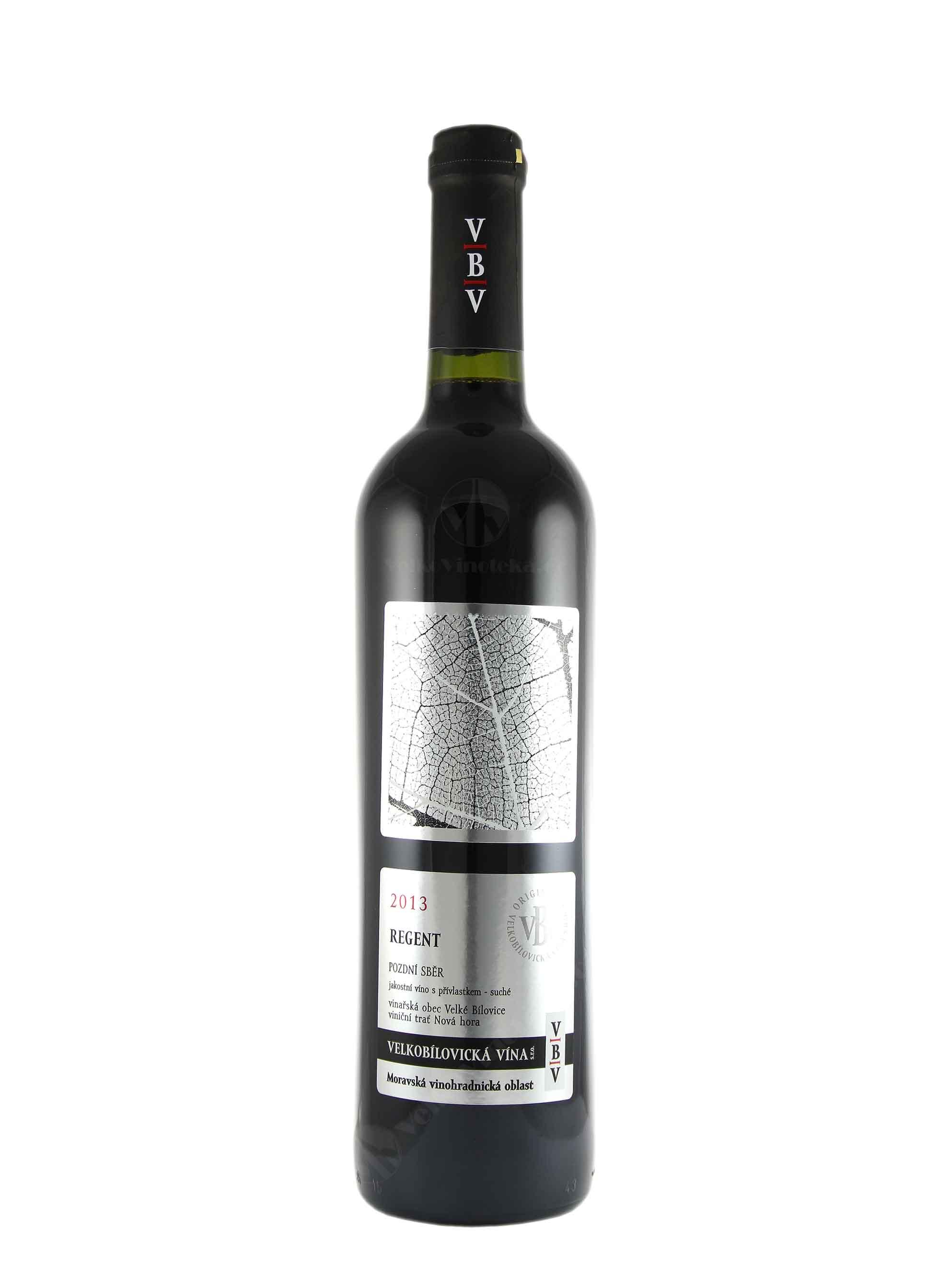 Regent, Pozdní sběr, 2013, Velkobílovická vína, 0.75 l
