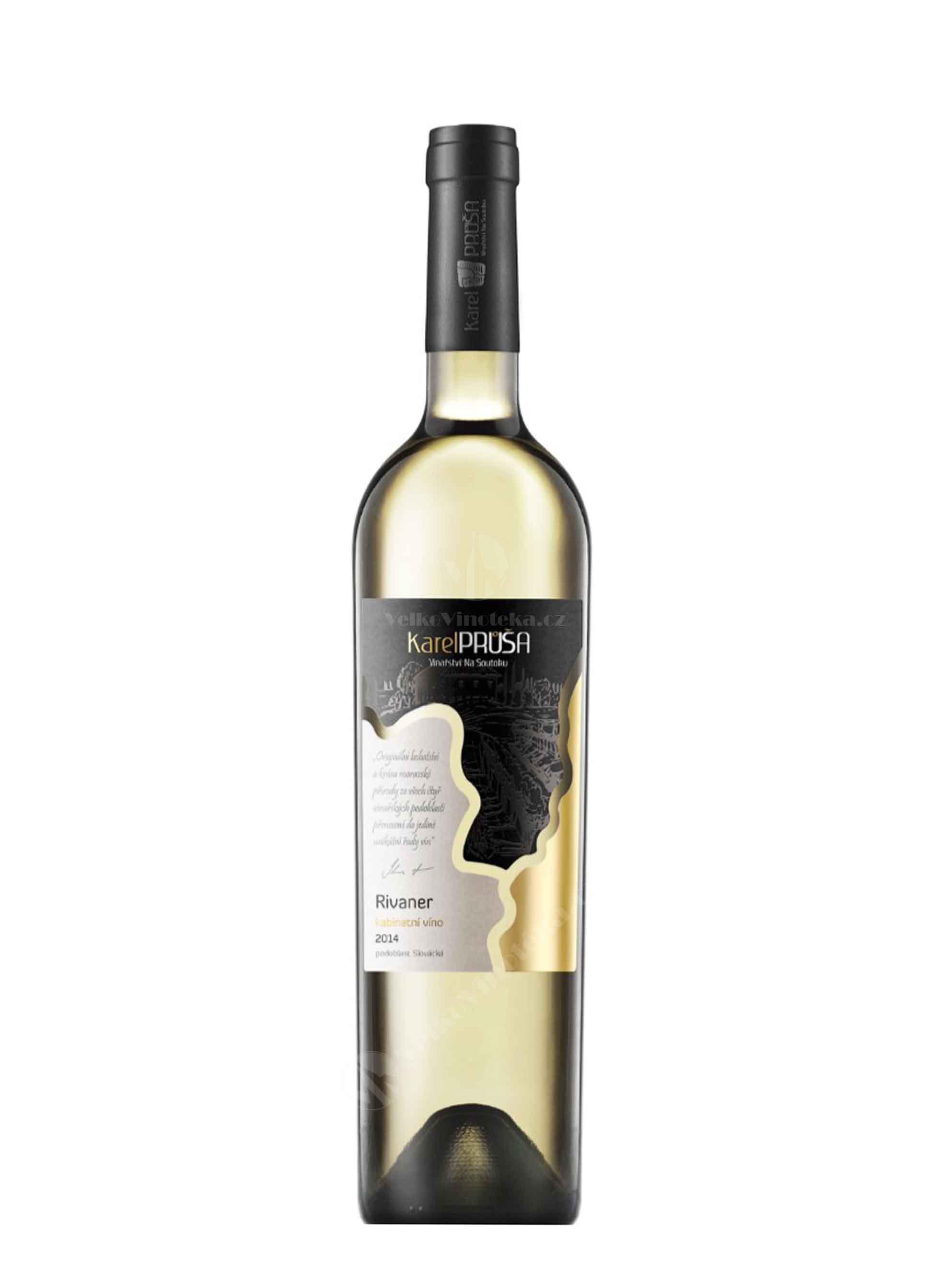 Rivaner, Pozdní sběr, 2015, Karel Průša - Vinařství Na Soutoku, 0.75 l
