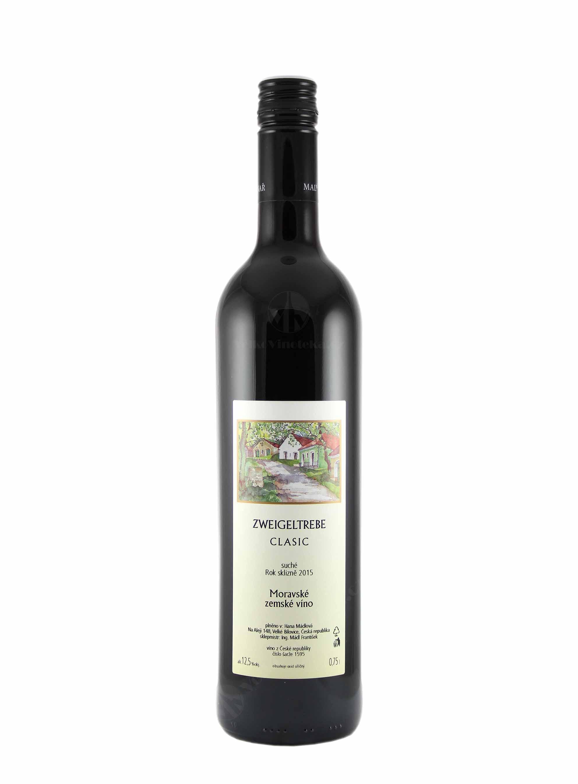 Zweigeltrebe, CLASIC, Zemské, 2016, František Mádl - Malý vinař, 0.75 l