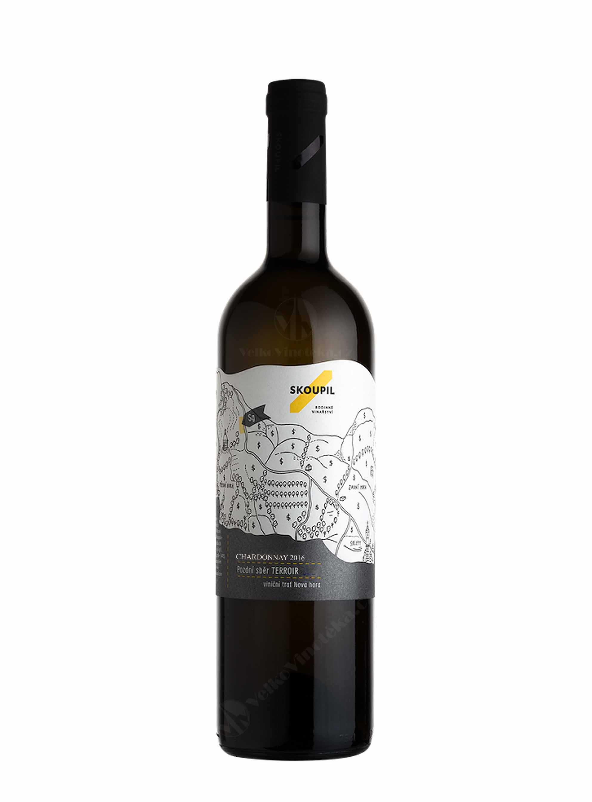 Chardonnay, Sur-lie, Terroir, Pozdní sběr, 2016, Vinařství Petr Skoupil, 0.75 l