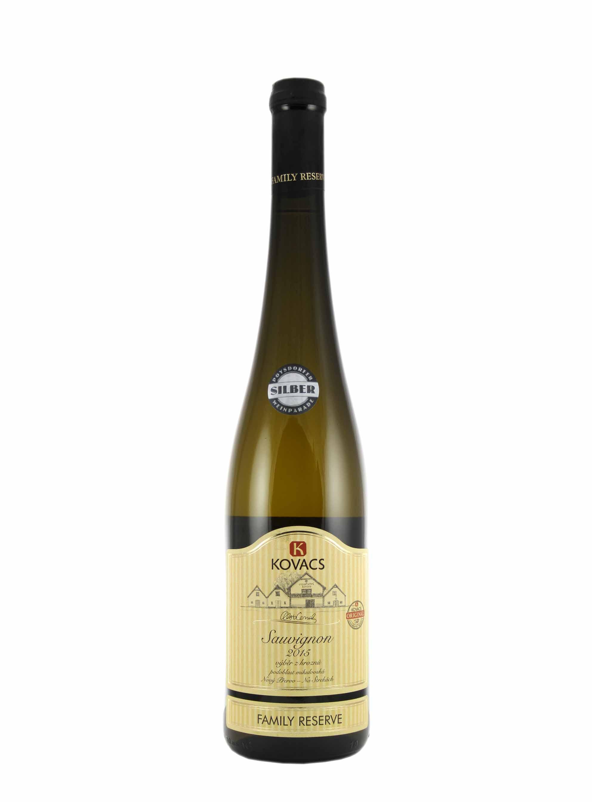 Sauvignon, Family reserve, Výběr z hroznů, 2015, Vinařství Kovacs, 0.75 l