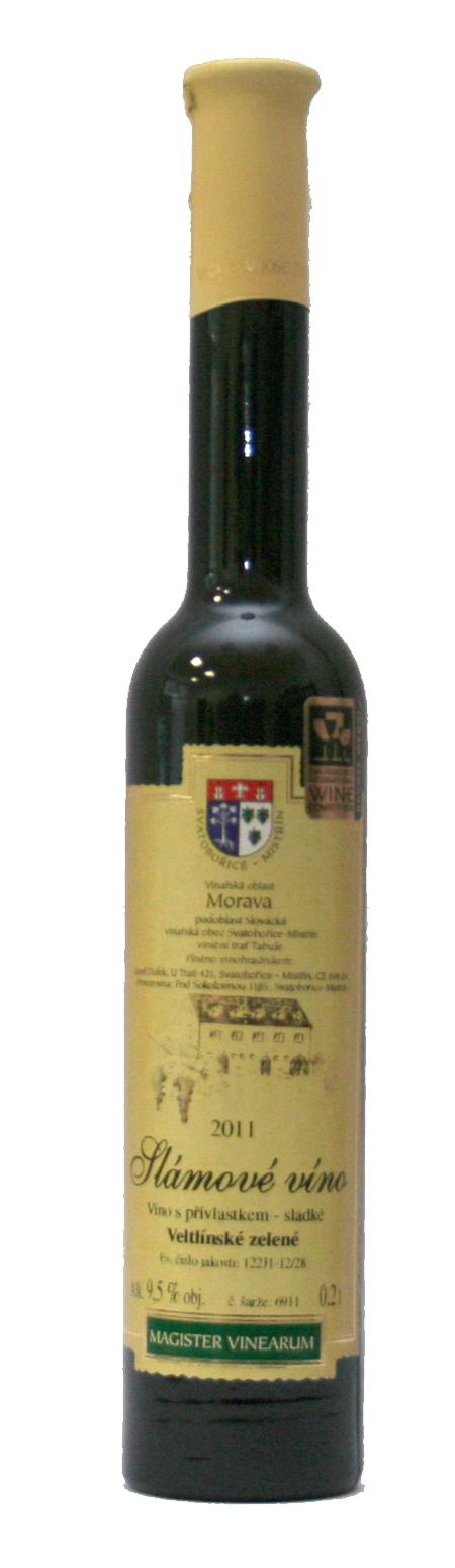Veltlínské zelené, Slámové víno, 2011, Vinařství Dufek, 0.2 l