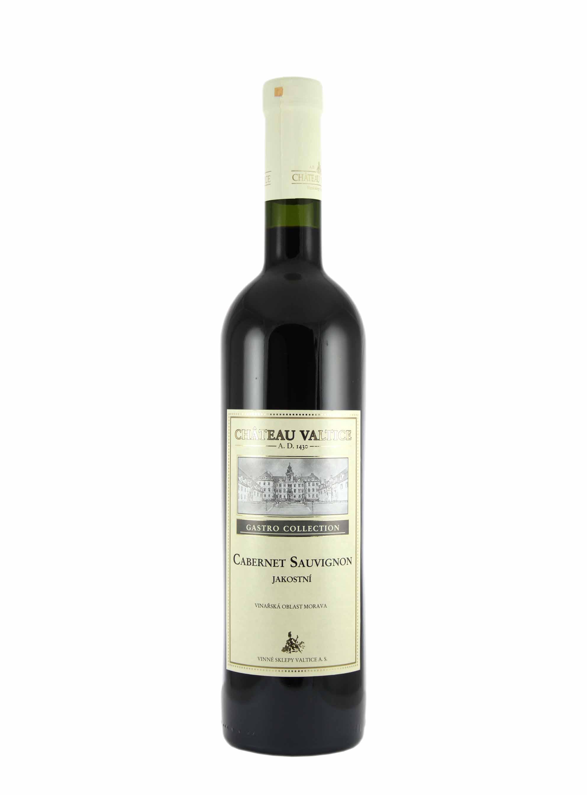 Cabernet Sauvignon, Gastro Collection, Jakostní odrůdové, Château Valtice, 0.75 l