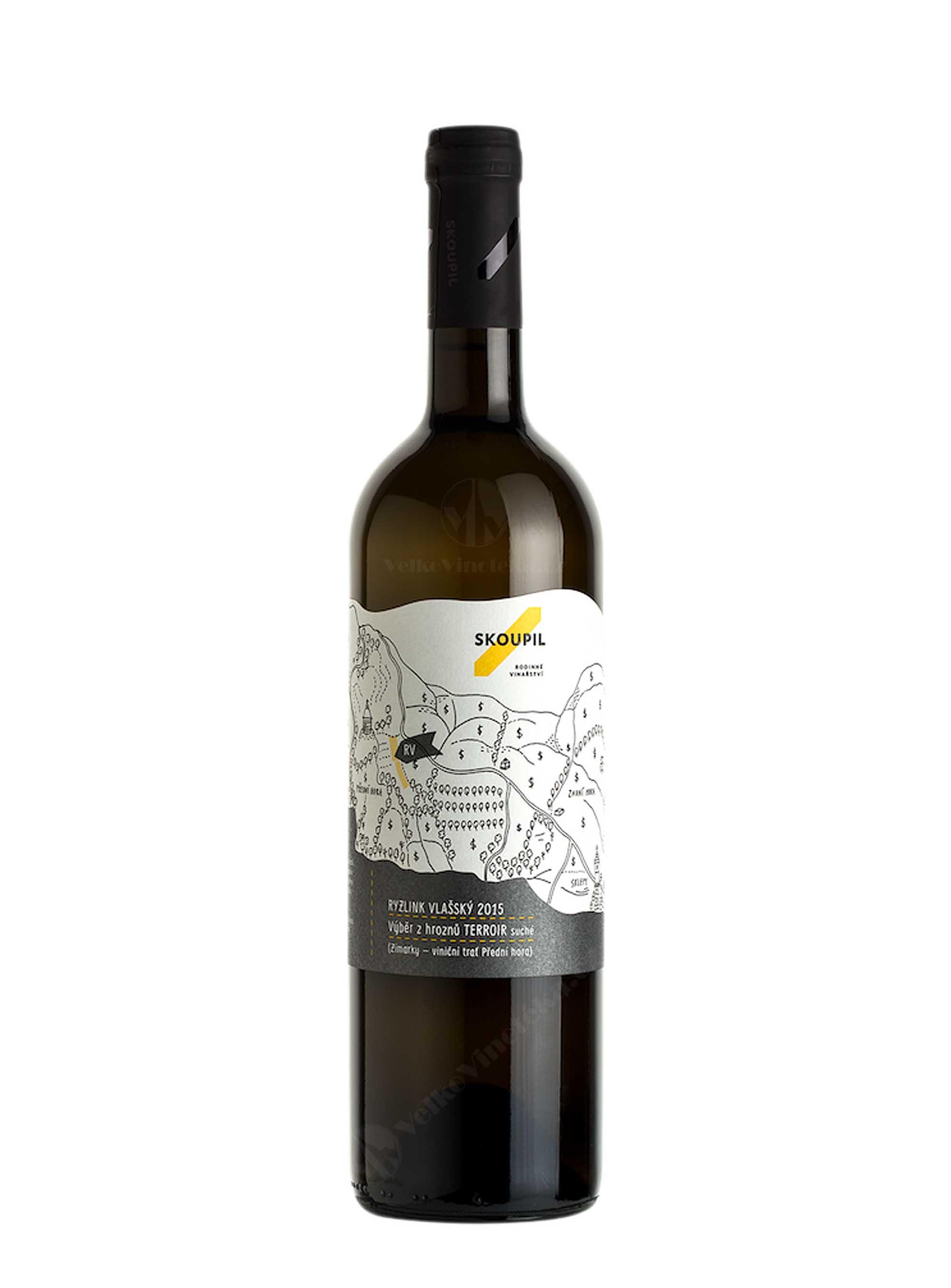 Ryzlink vlašský, Terroir, Výběr z hroznů, 2015, Vinařství Petr Skoupil, 0.75 l