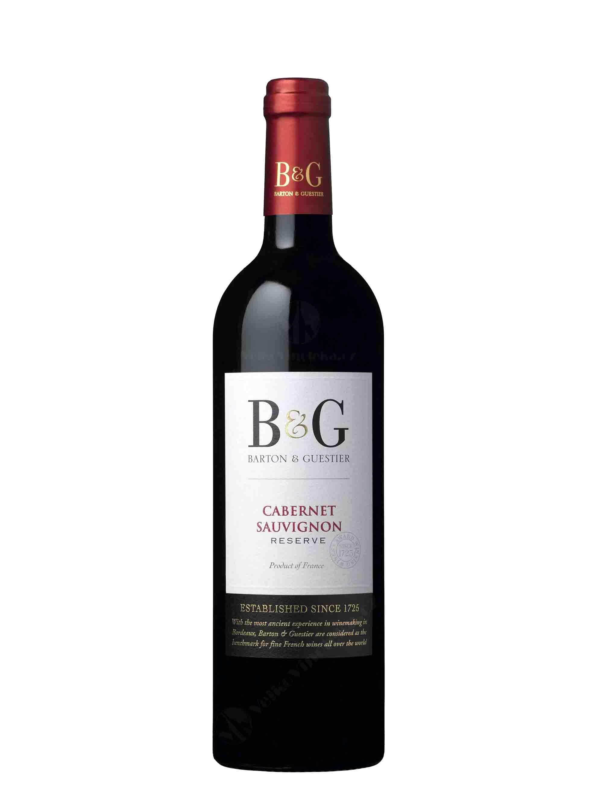 Cabernet Sauvignon, IGP Réserve, 2016, Barton & Guestier, 0.75 l