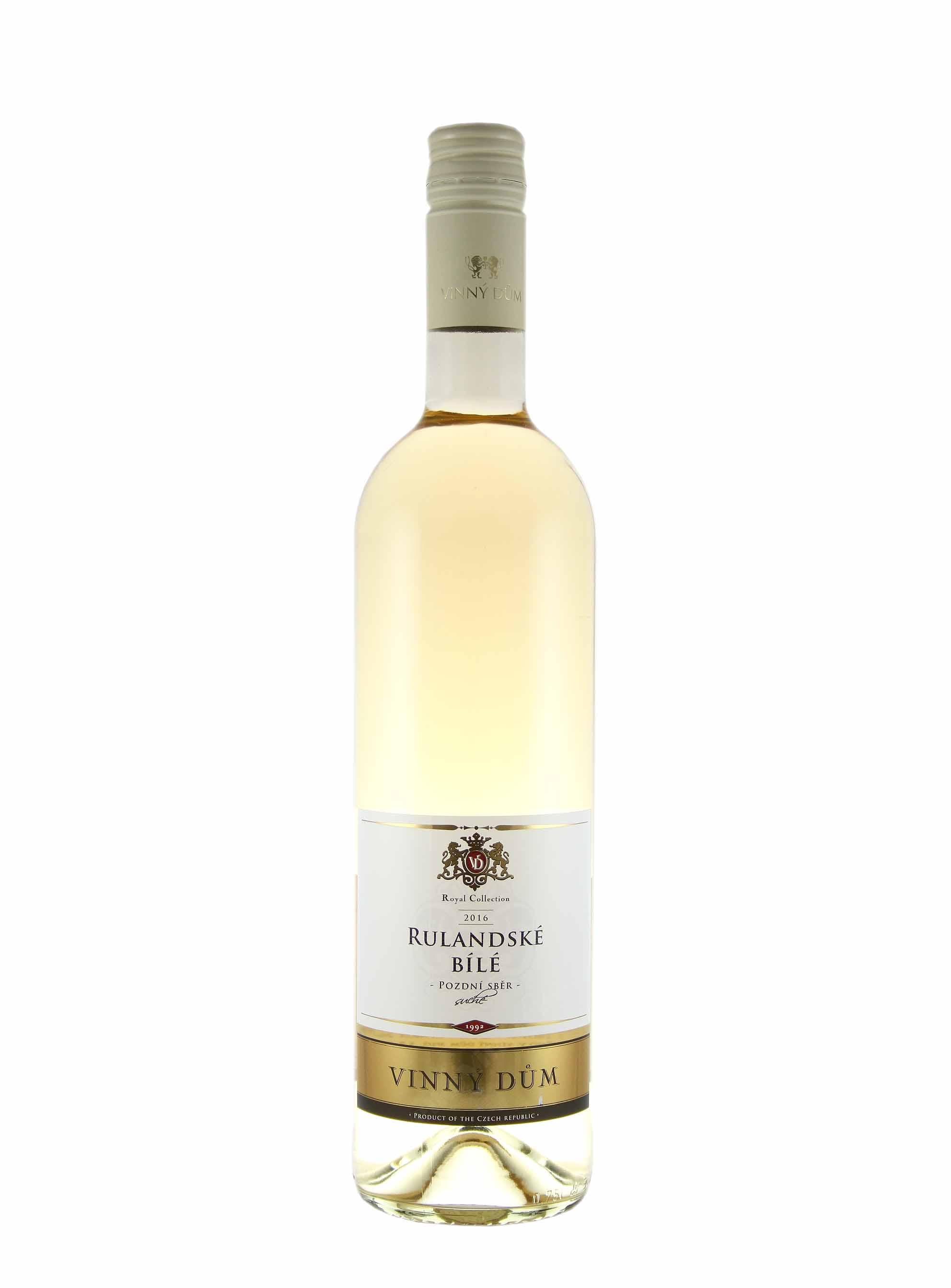 Rulandské bílé, Pozdní sběr, 2016, Vinný dům, 0.75 l
