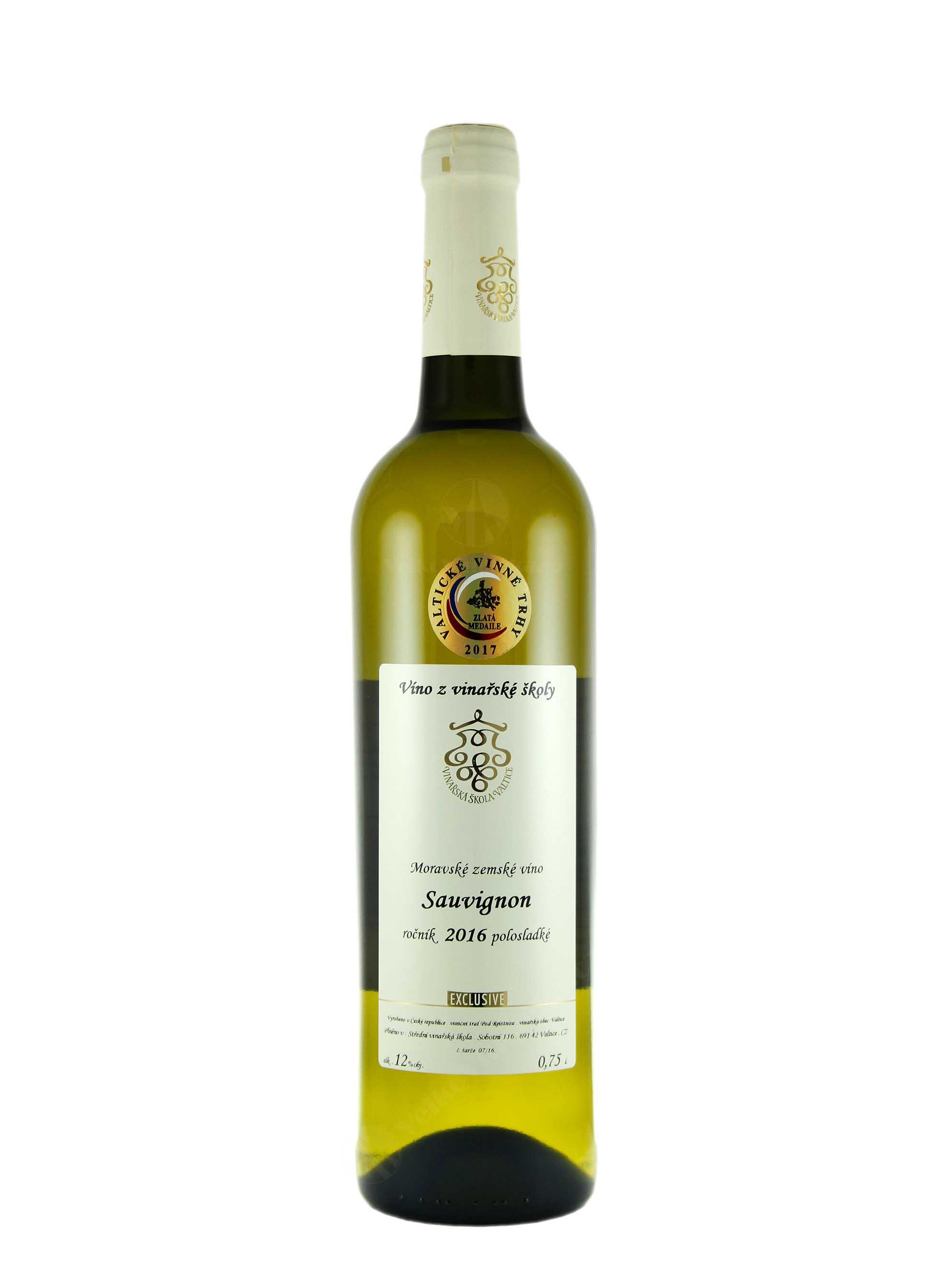 Sauvignon, Pozdní sběr, 2016, Vinařská škola Valtice, 0.75 l