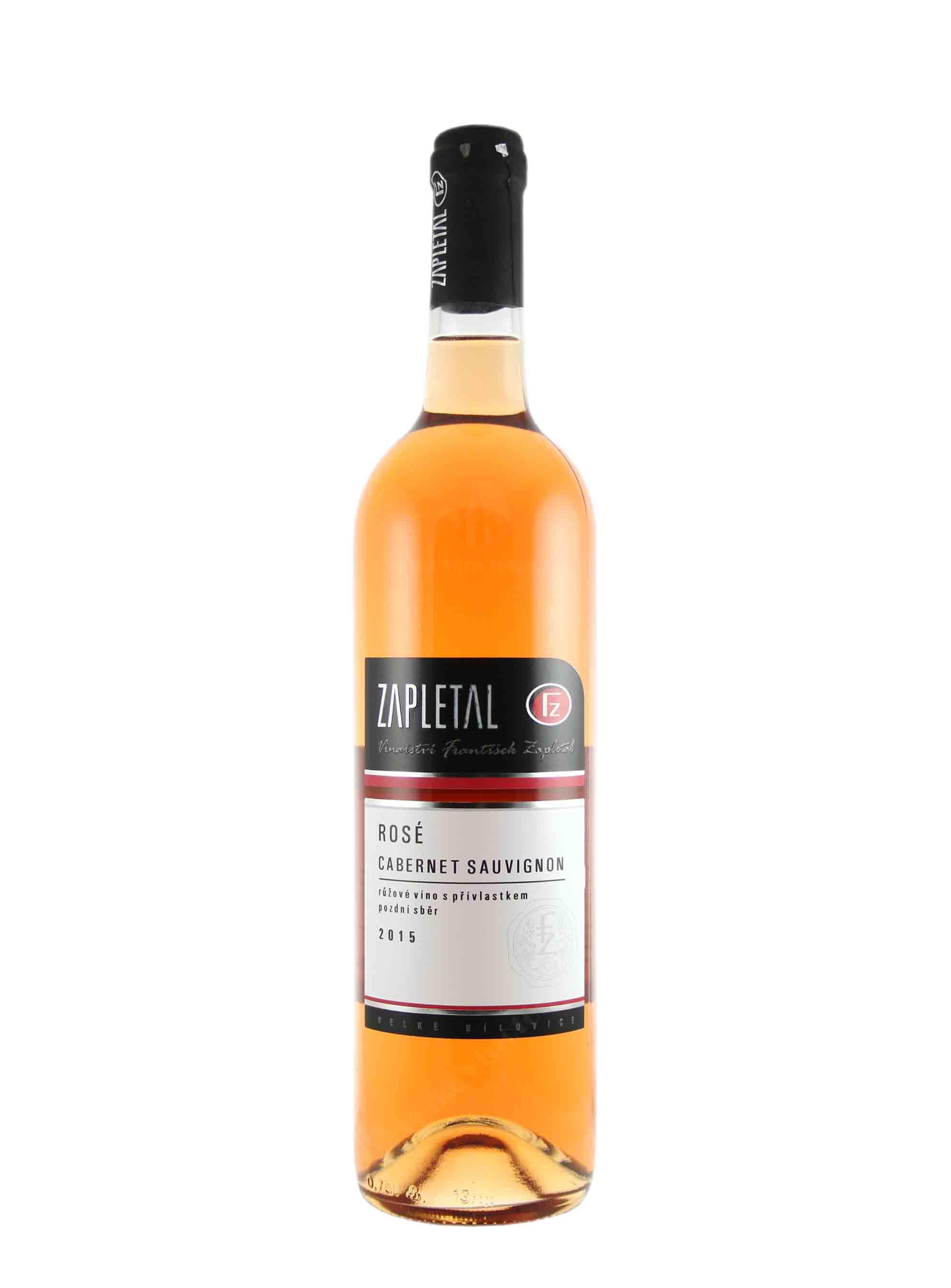 Cabernet Sauvignon, Pozdní sběr, 2015, Vinařství František Zapletal, 0.75 l
