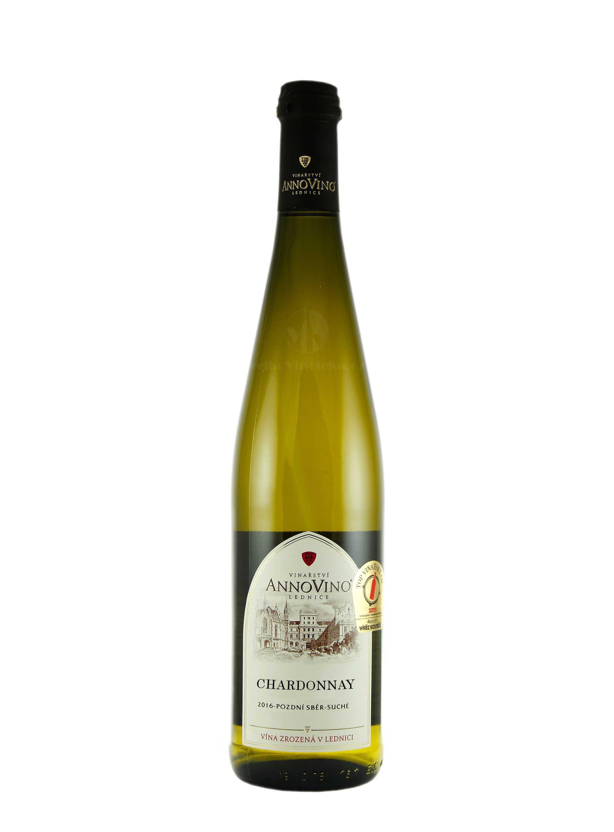 Chardonnay, Pozdní sběr, 2016, Château Lednice, 0.75 l