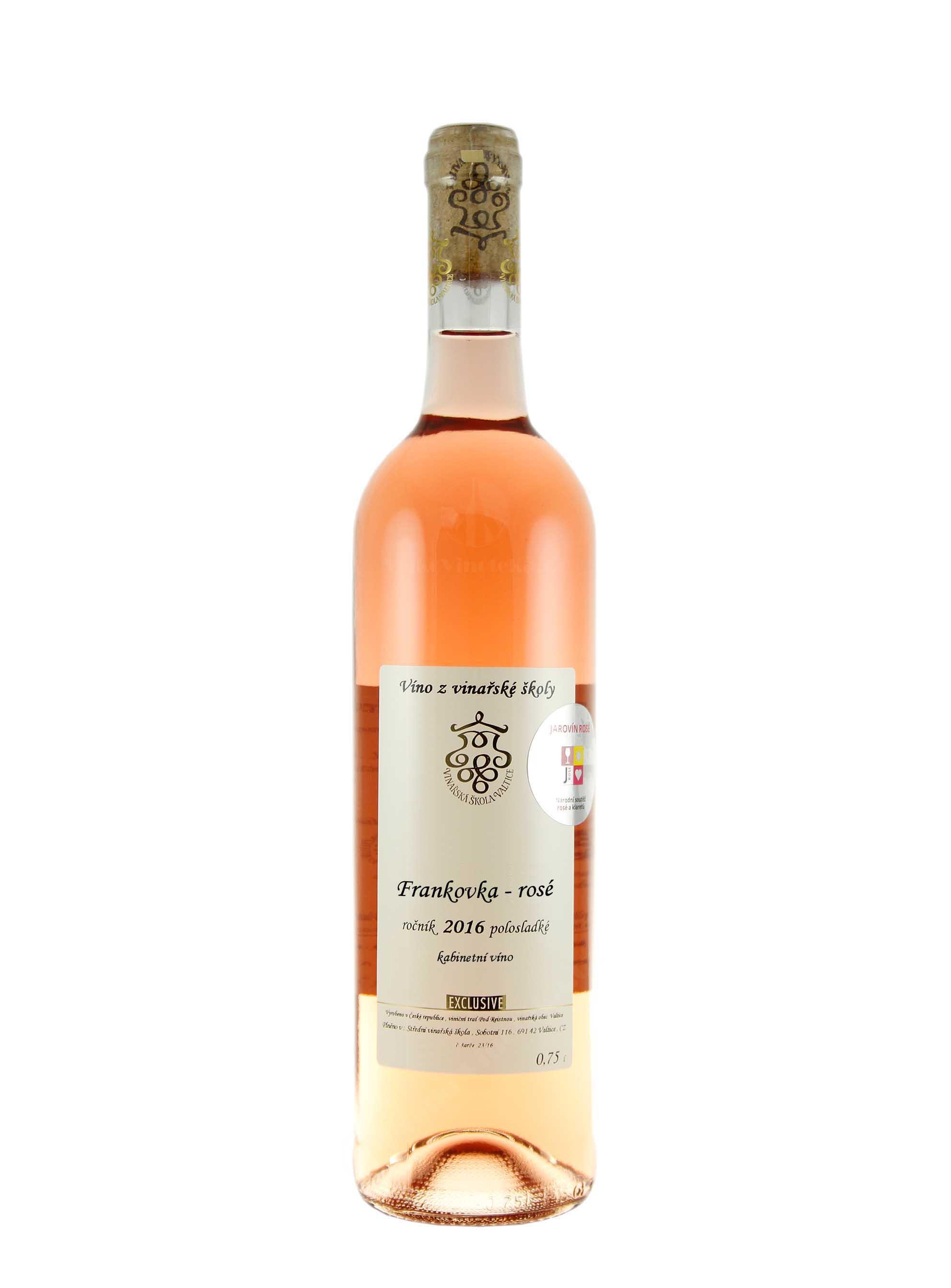 Frankovka rosé, Exclusive, Kabinet, 2016, Vinařská škola Valtice, 0.75 l