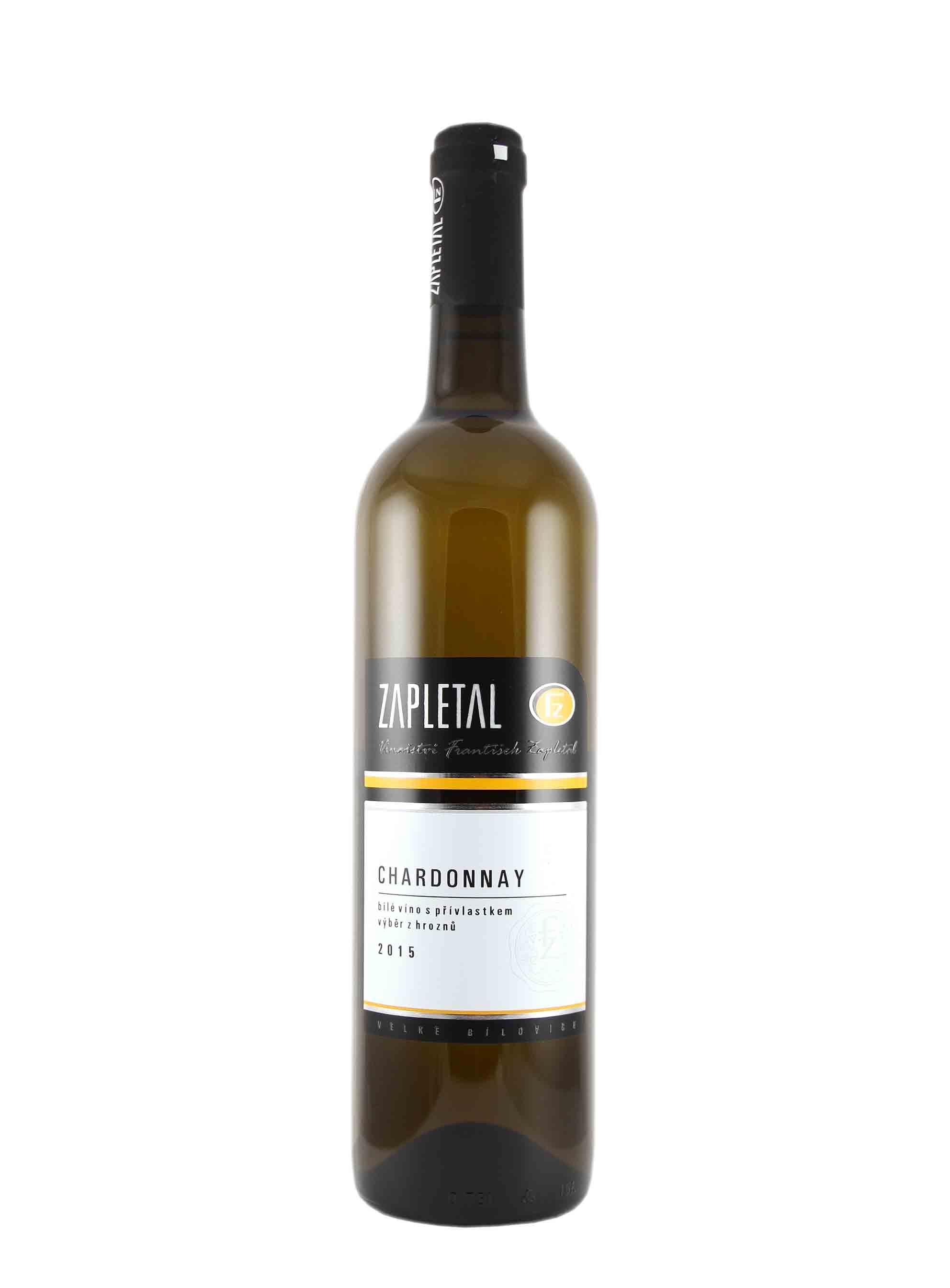 Chardonnay, Výběr z hroznů, 2015, Vinařství František Zapletal, 0.75 l