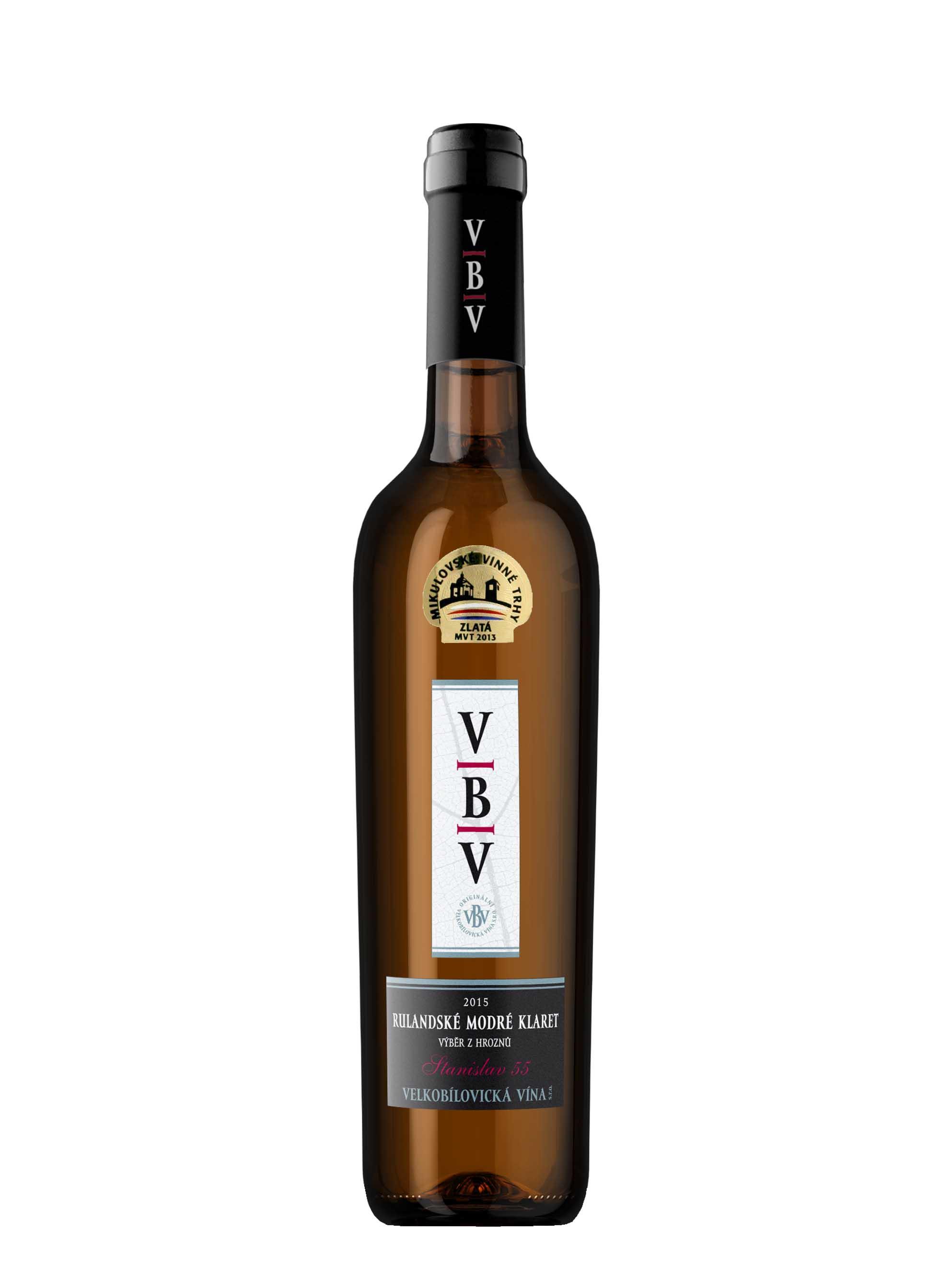 Rulandské Modré, Premium, Výběr z hroznů - klaret, 2015, Velkobílovická vína, 0.75 l
