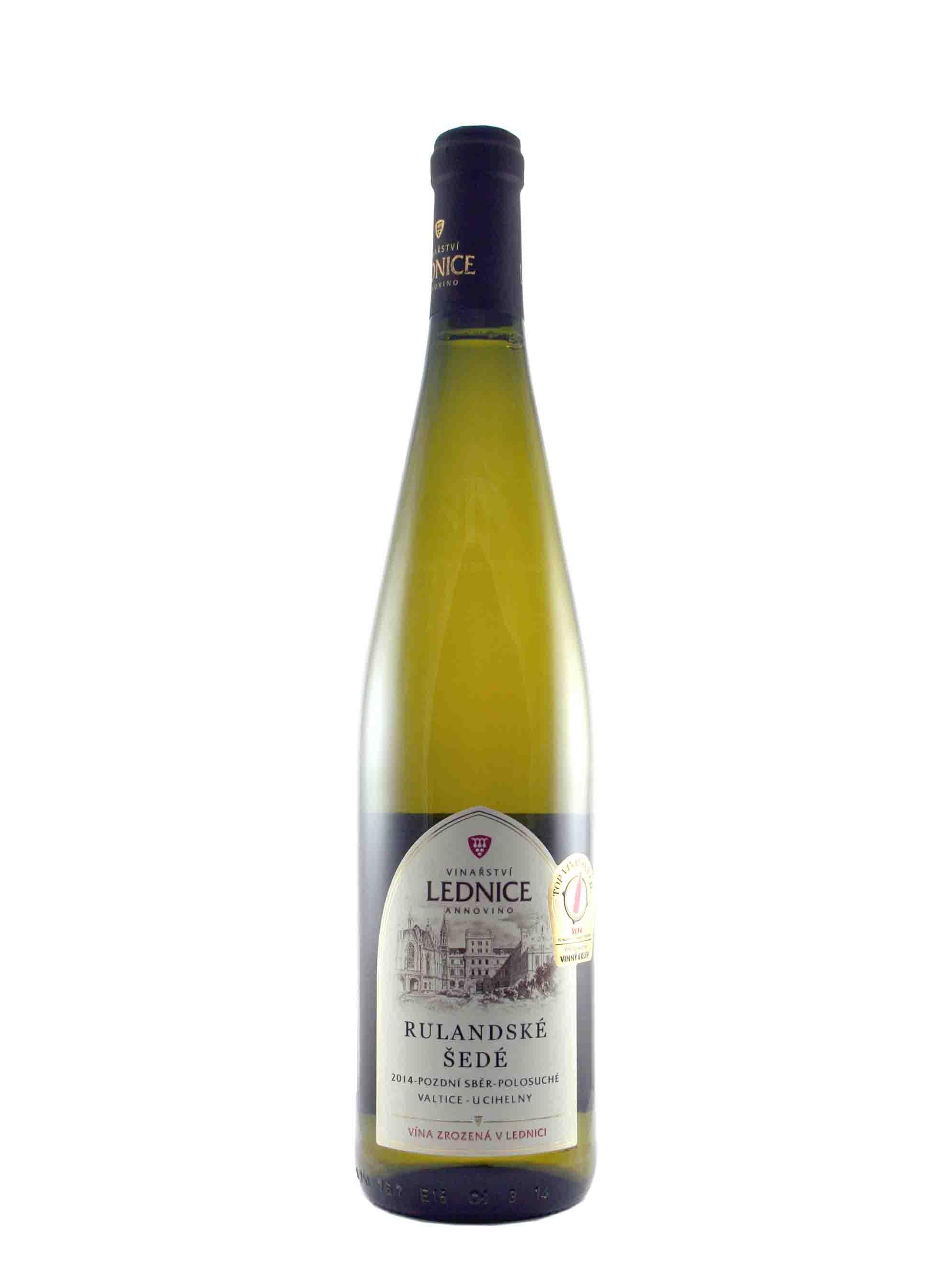 Rulandské šedé, Pozdní sběr, 2014, Château Lednice, 0.75 l