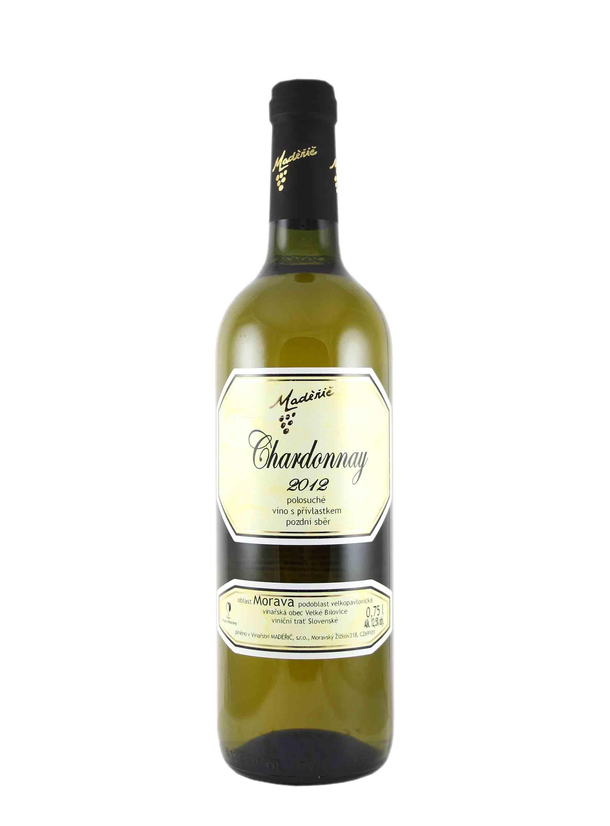 Chardonnay, Pozdní sběr, 2012, Vinařství Ludvík Maděřič, 0.75 l