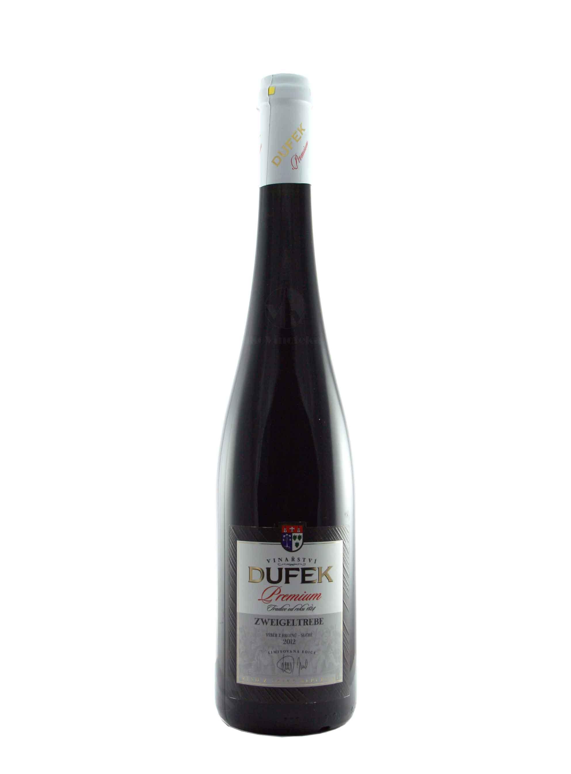 Zweigeltrebe, Premium, Výběr z hroznů, 2012, Vinařství Dufek, 0.75 l