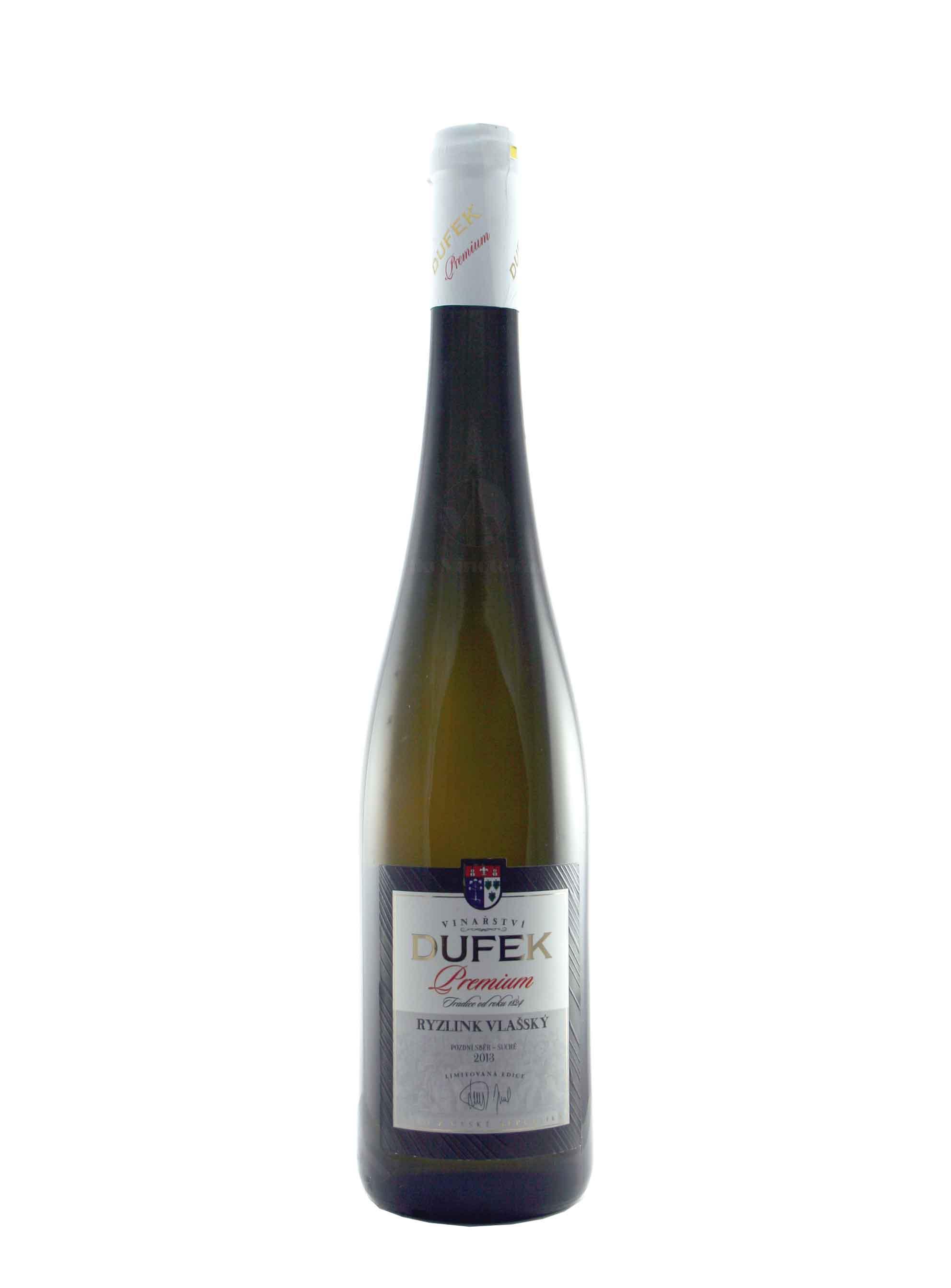 Ryzlink vlašský, Premium, Pozdní sběr, 2013, Vinařství Dufek, 0.75 l