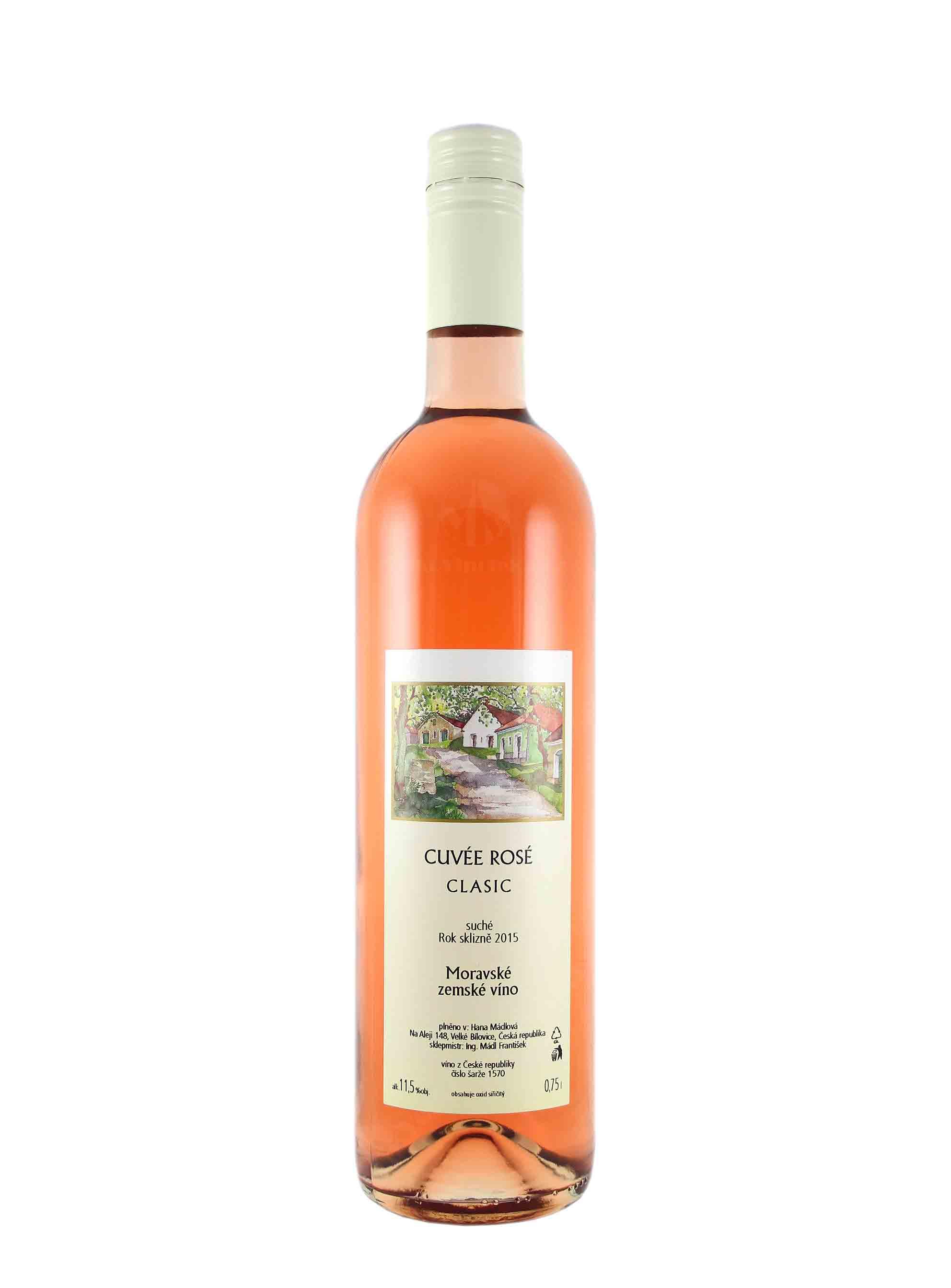 Cuvée Rosé, CLASIC, Zemské, 2016, Vinařství Mádl Velké Bílovice, 0.75 l