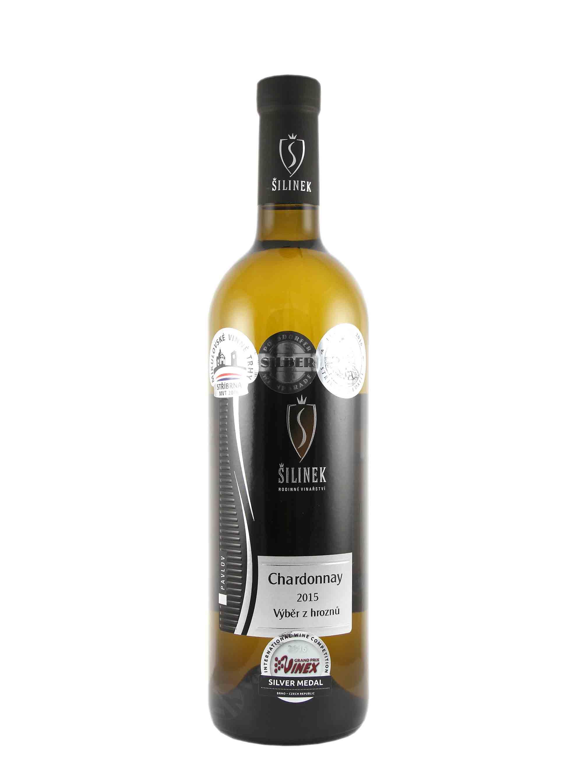 Chardonnay, Výběr z hroznů, 2015, Jiří Šilinek, 0.75 l