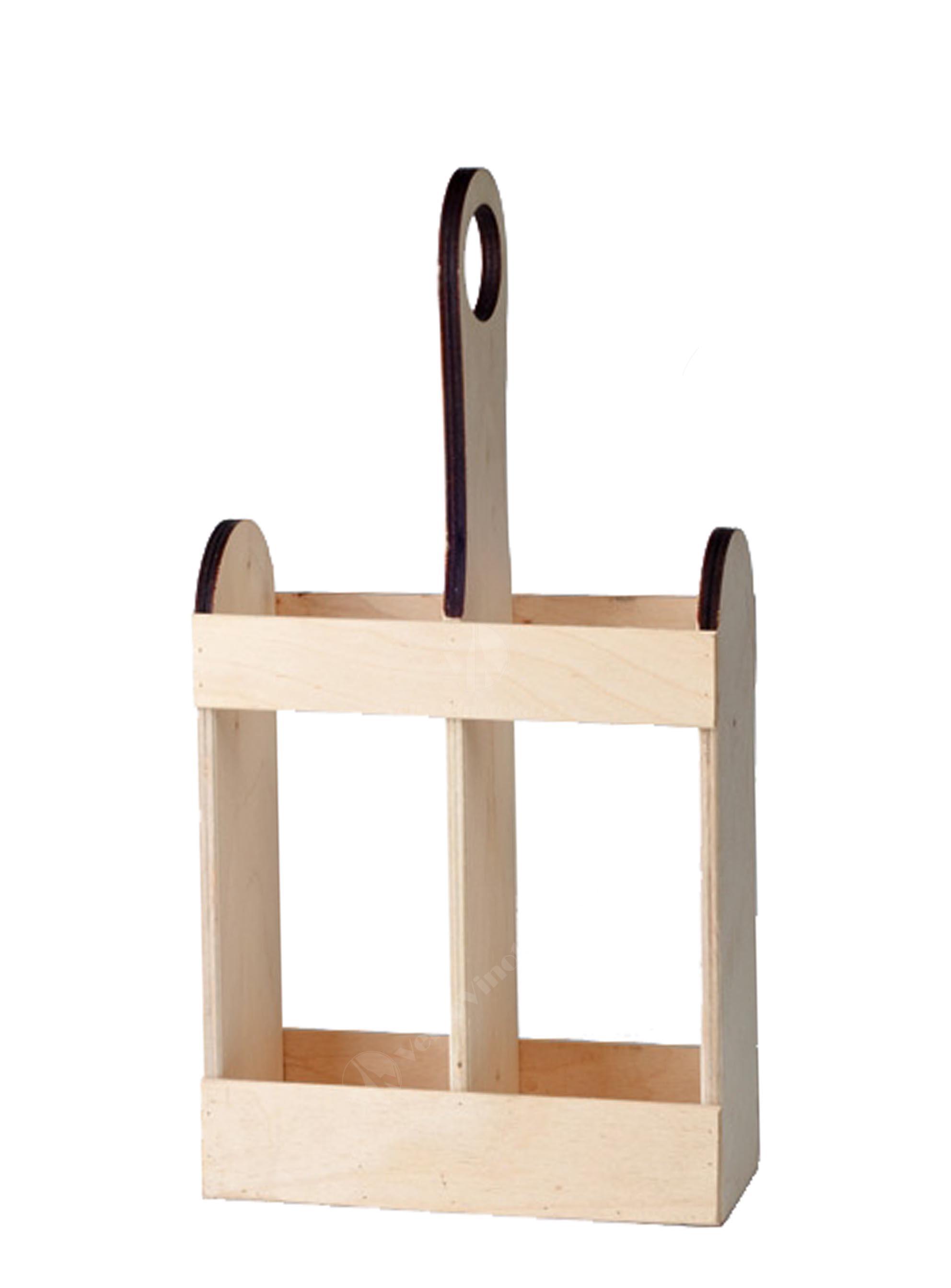 Dřevěná přepravka na 2 láhve
