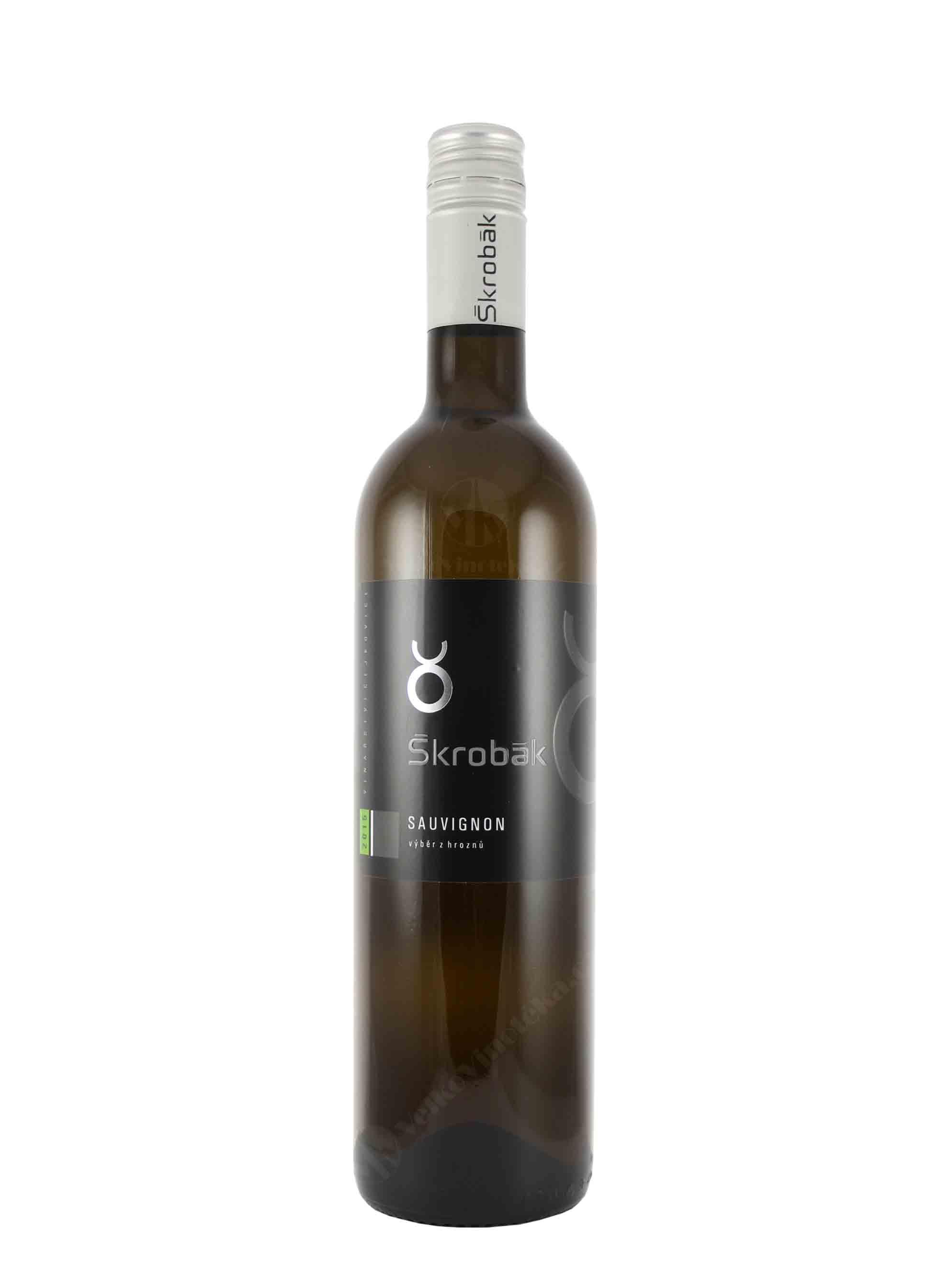 Sauvignon, Výběr z hroznů, 2015, Vinařství Škrobák, 0.75 l