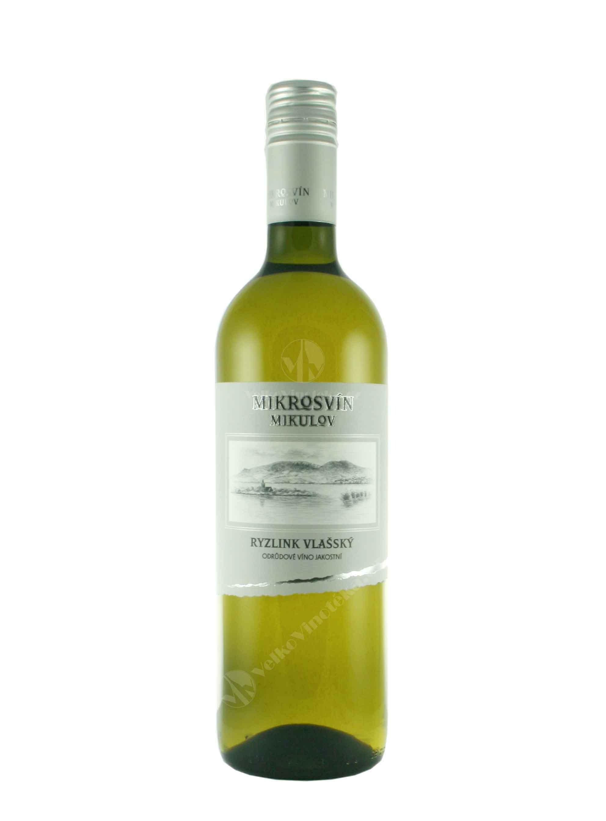 Ryzlink vlašský, Standard, Jakostní odrůdové, 2014, Mikrosvín, 0.75 l