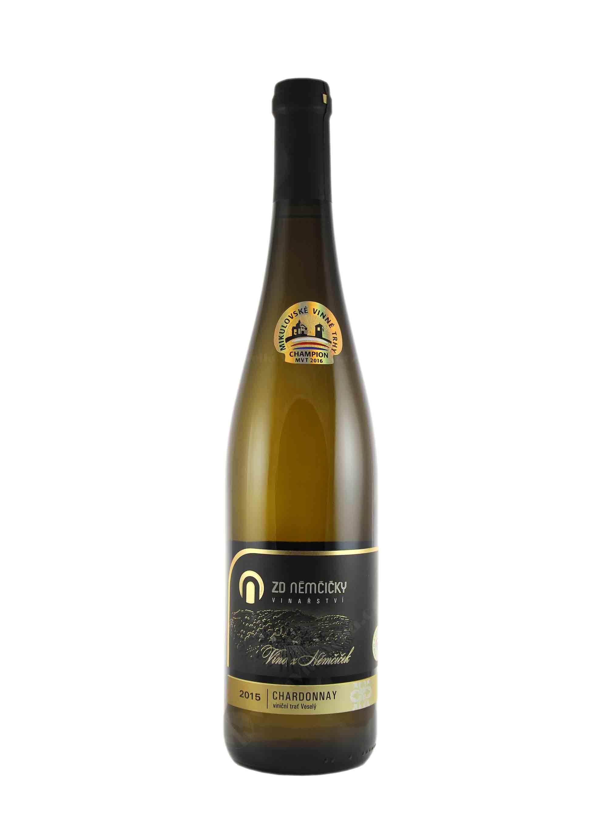 Chardonnay, Premium, Výběr z hroznů, 2015, ZD Němčičky, 0.75 l