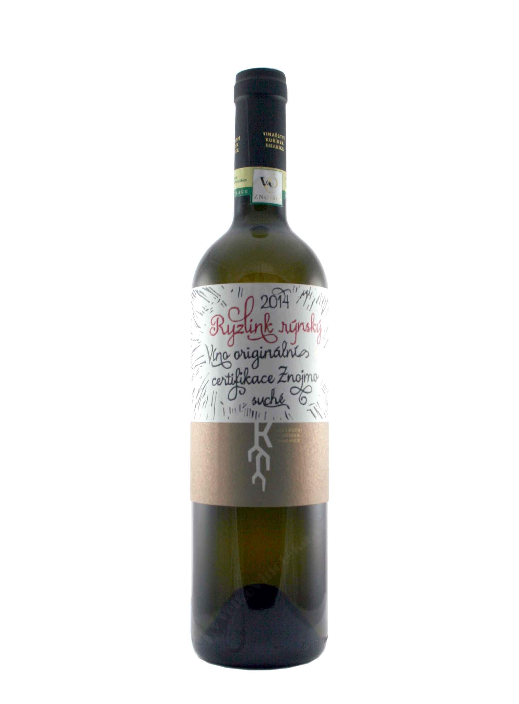 Ryzlink rýnský, Premium, VOC, 2014, Vinařství Kořínek, 0.75 l