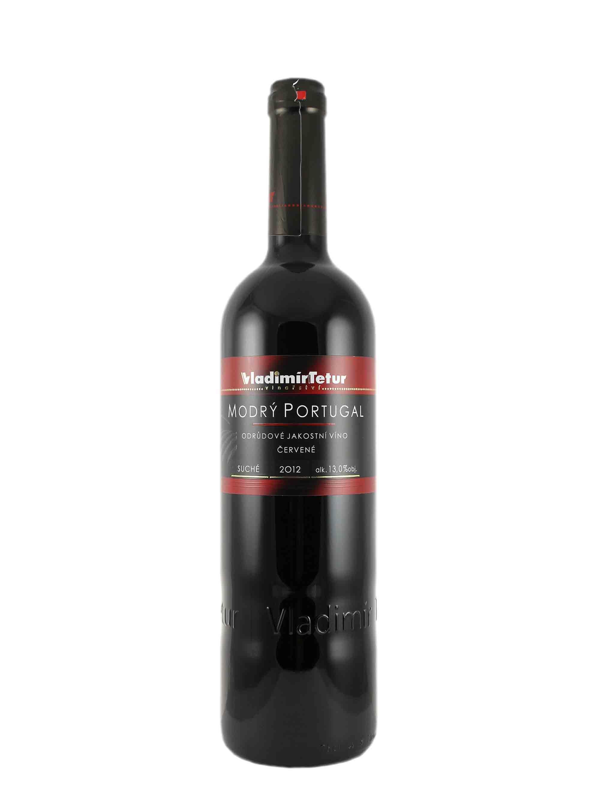 Modrý Portugal, Jakostní odrůdové, 2012, Vinařství Vladimír Tetur, 0.75 l