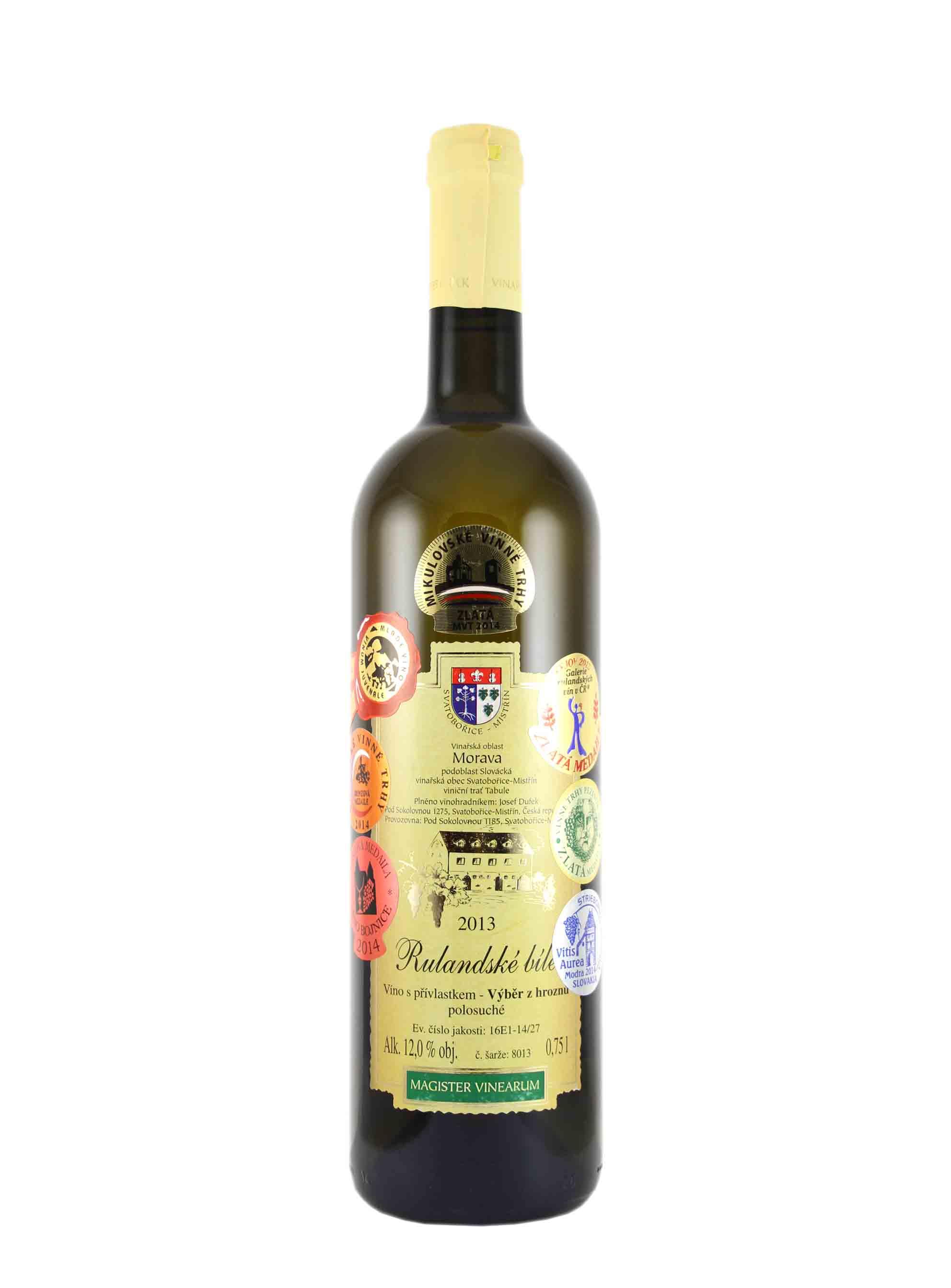 Rulandské bílé, Výběr z hroznů, 2013, Vinařství Dufek, 0.75 l