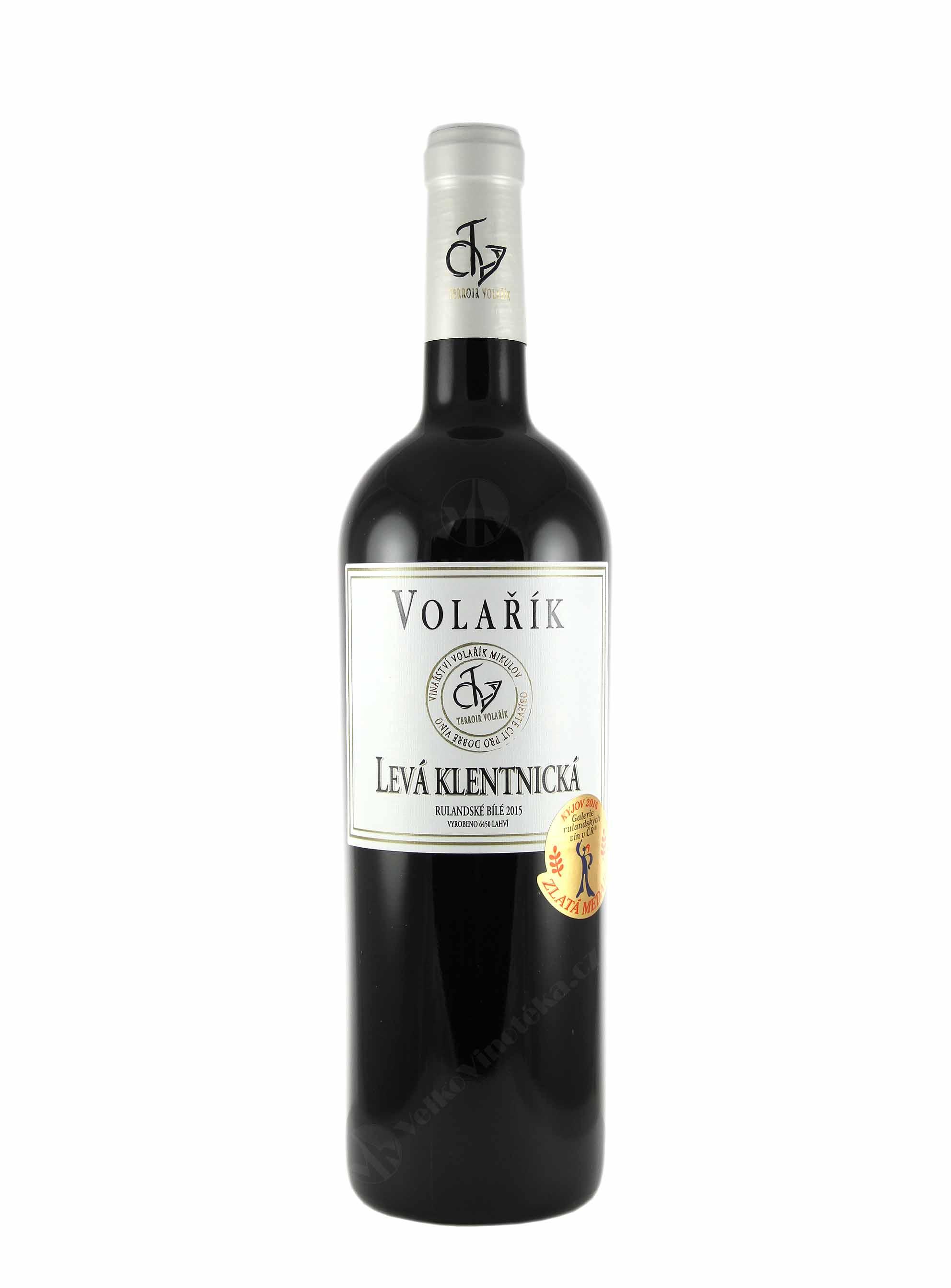 Rulandské bílé, Pozdní sběr, 2015, Vinařství Volařík, 0.75 l