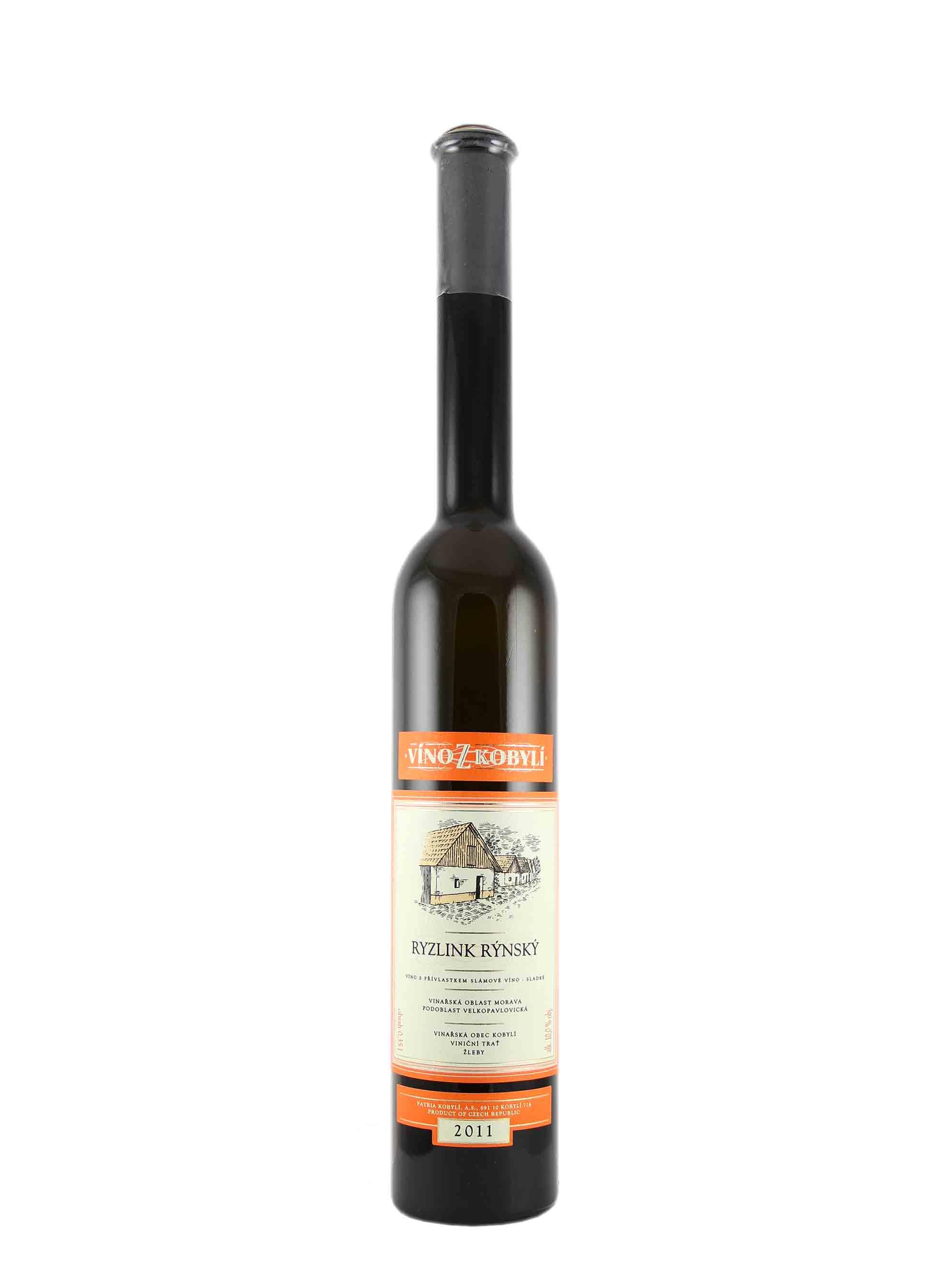Ryzlink rýnský, Slámové víno, 2011, Patria Kobylí, 0.35 l