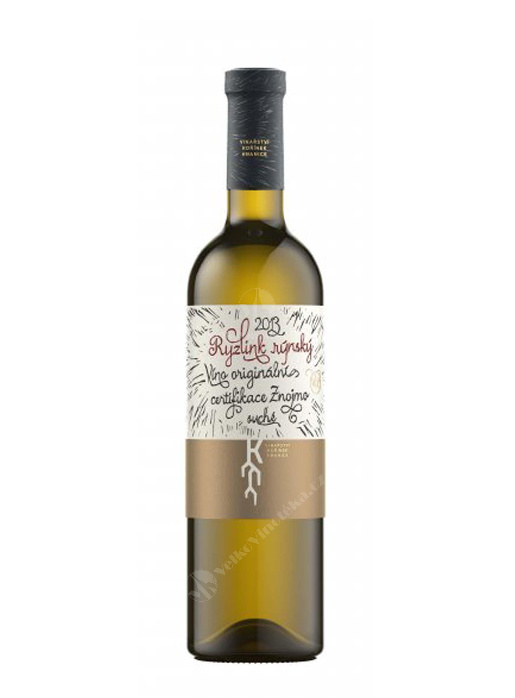Ryzlink rýnský, Premium, VOC, 2013, Vinařství Kořínek, 0.75 l