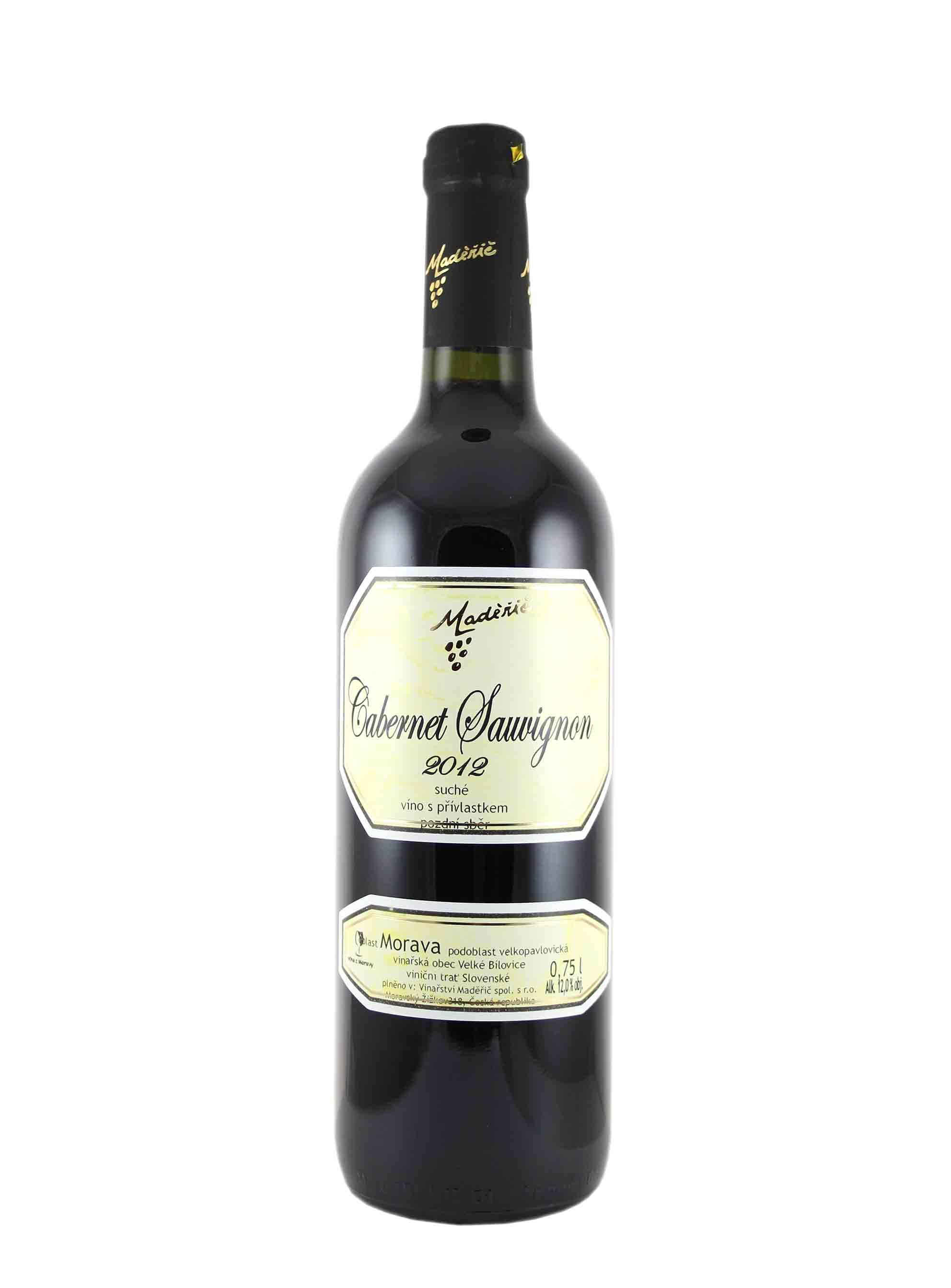 Cabernet Sauvignon, Pozdní sběr, 2012, Vinařství Ludvík Maděřič, 0.75 l