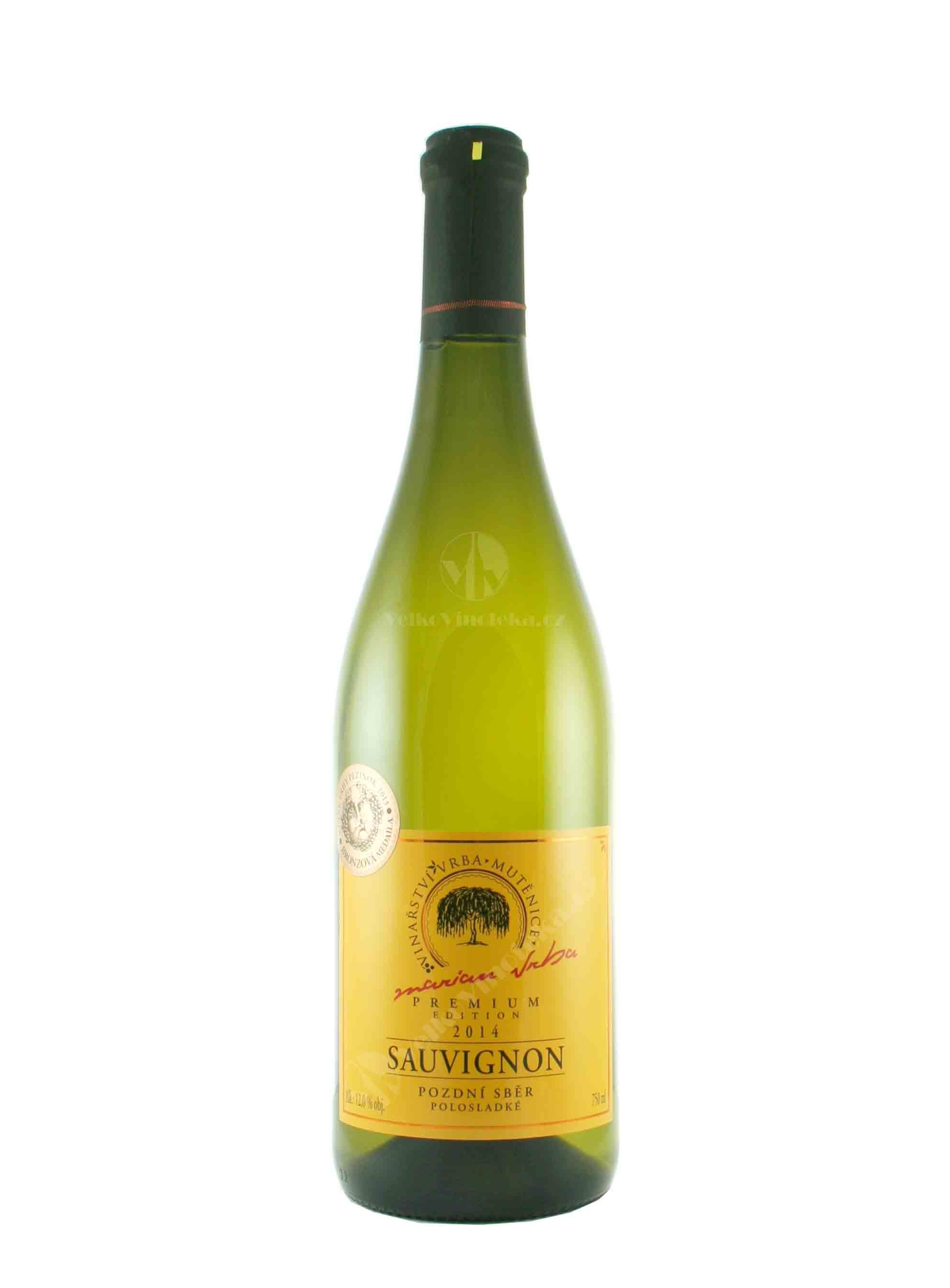 Sauvignon, Premium, Pozdní sběr, 2014, Vinařství Vrba, 0.75 l