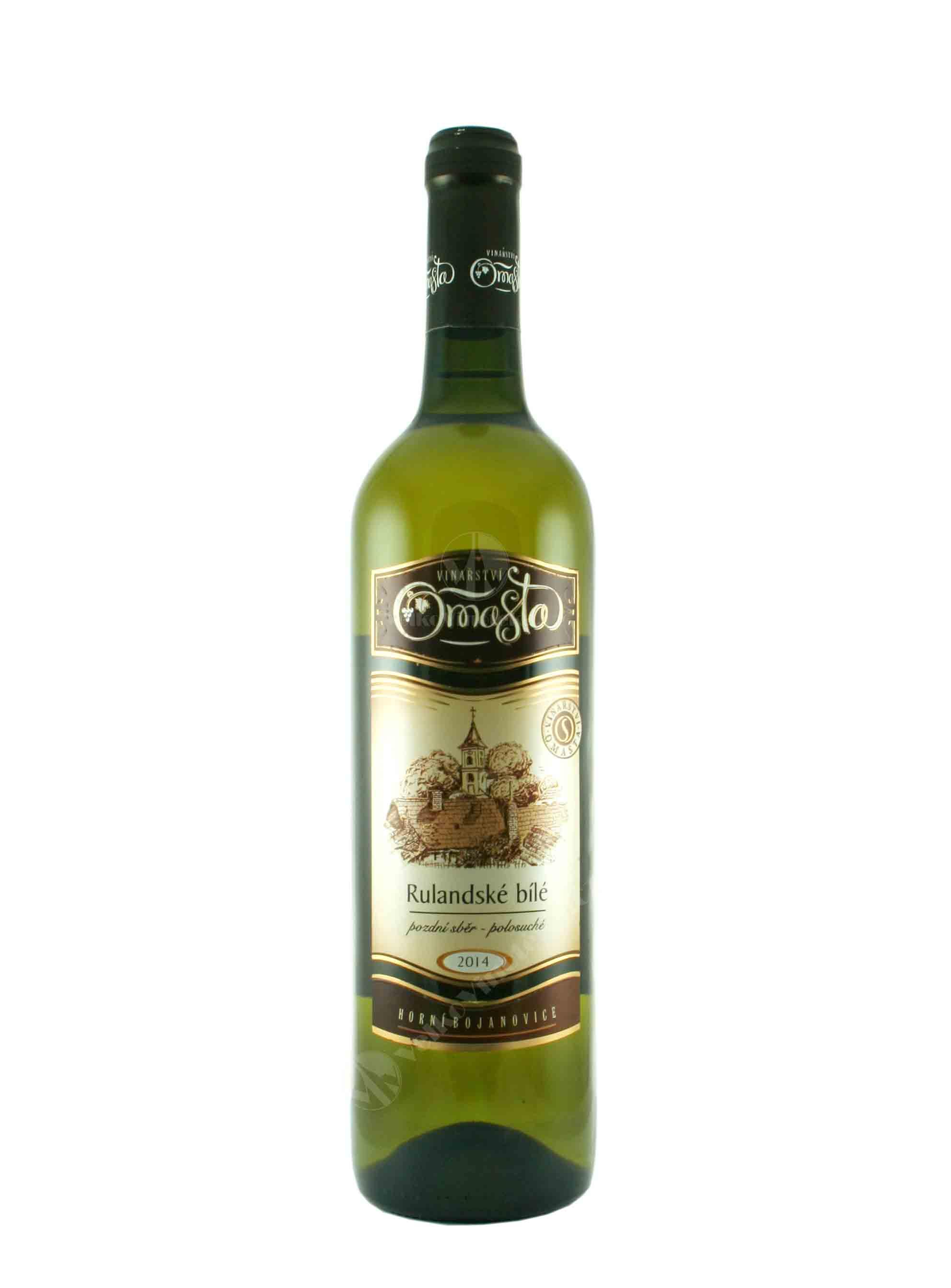 Rulandské bílé, Pozdní sběr, 2014, Vinařství Omasta, 0.75 l